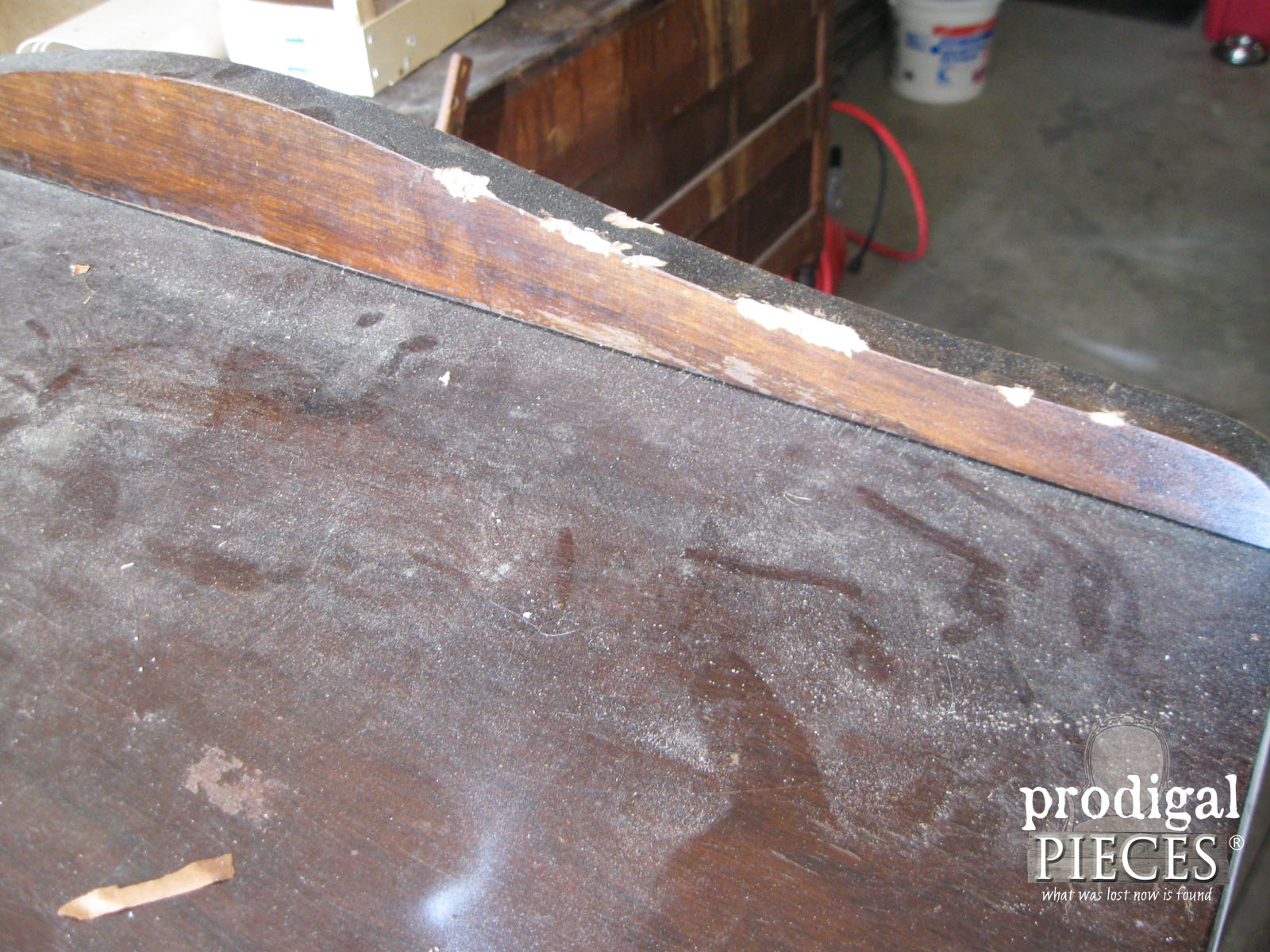 Beaten Up Top of Antique Chest | Prodigal Pieces | www.prodigalpieces.com
