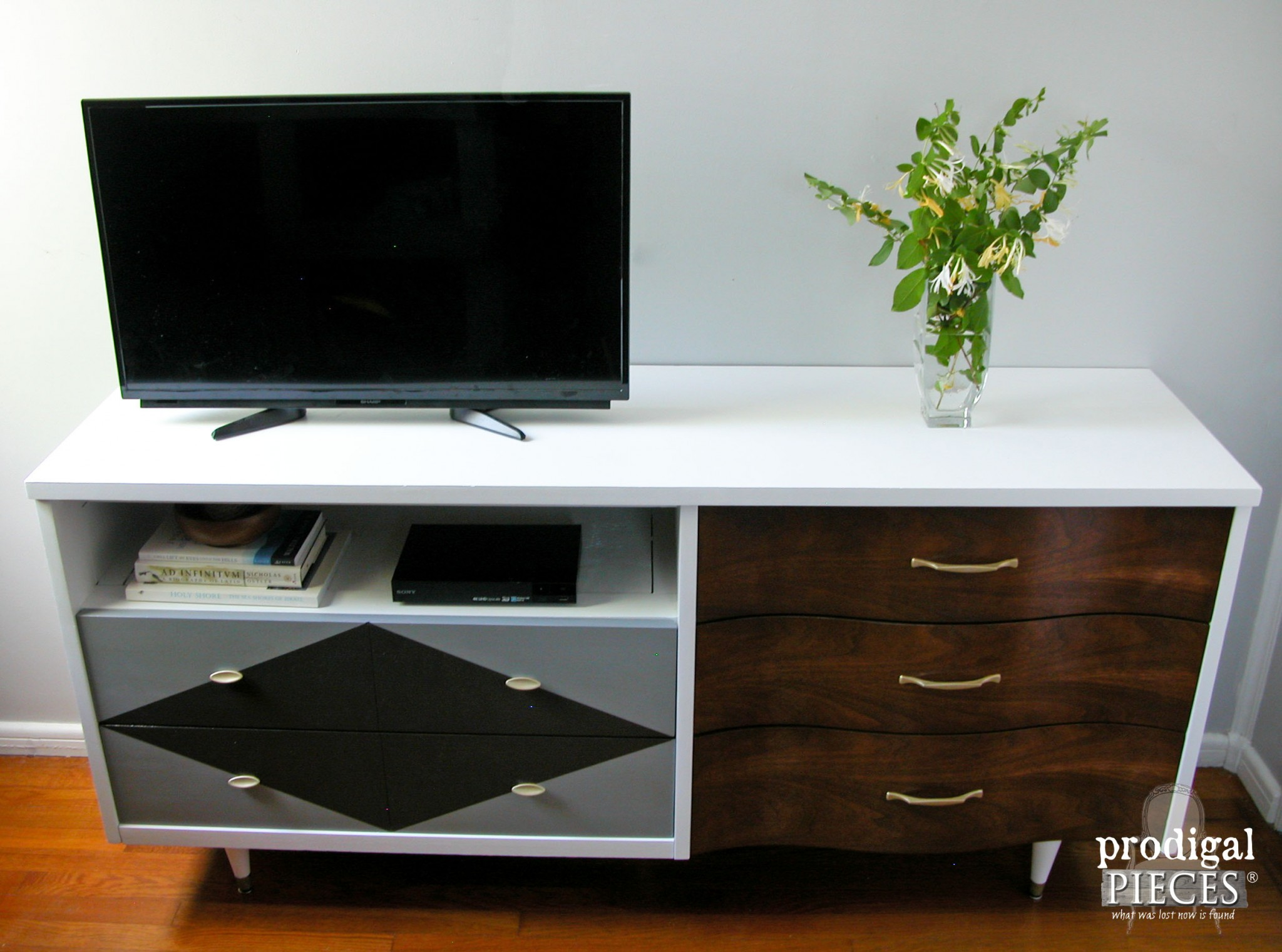 Modern Chic Mid Century Console by Prodigal Pieces | www.prodigalpieces.com