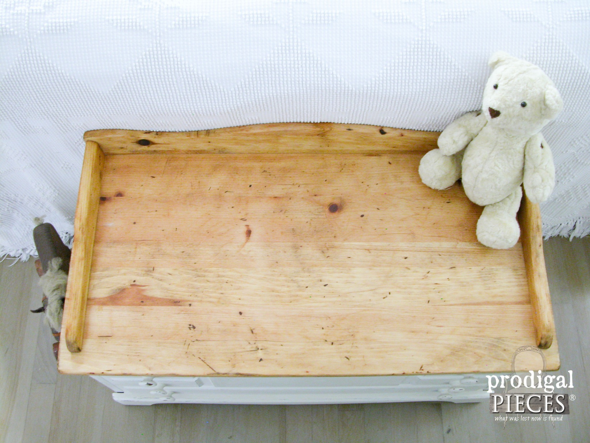 Rustic Farmhouse Pine Wooden Chest by Prodigal Pieces | www.prodigalpieces.com