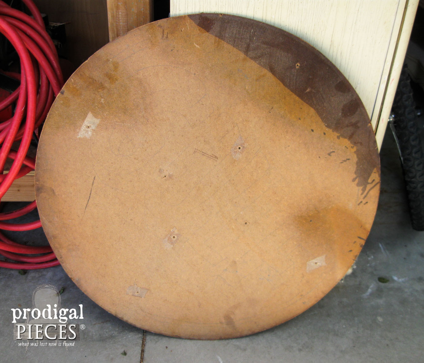 Salvaged Art Deco Mirror Backing Before Repurposing | Prodigal Pieces | www.prodigalpieces.com