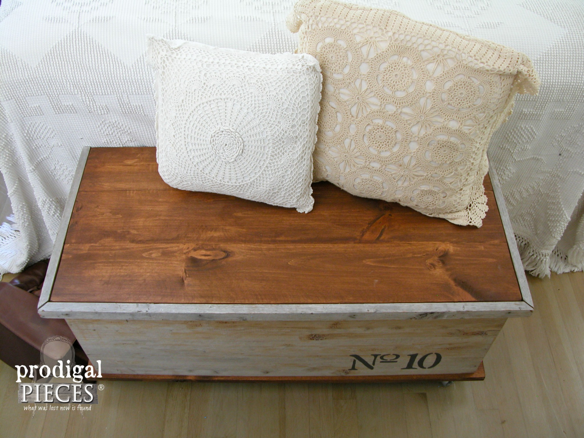 Top of Rustic Cedar Chest Made New by Prodigal Pieces | www.prodigalpieces.com