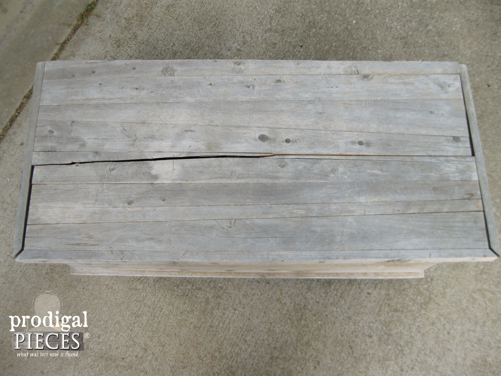 Damaged Cedar Chest Top | Prodigal Pieces | www.prodigalpieces.com