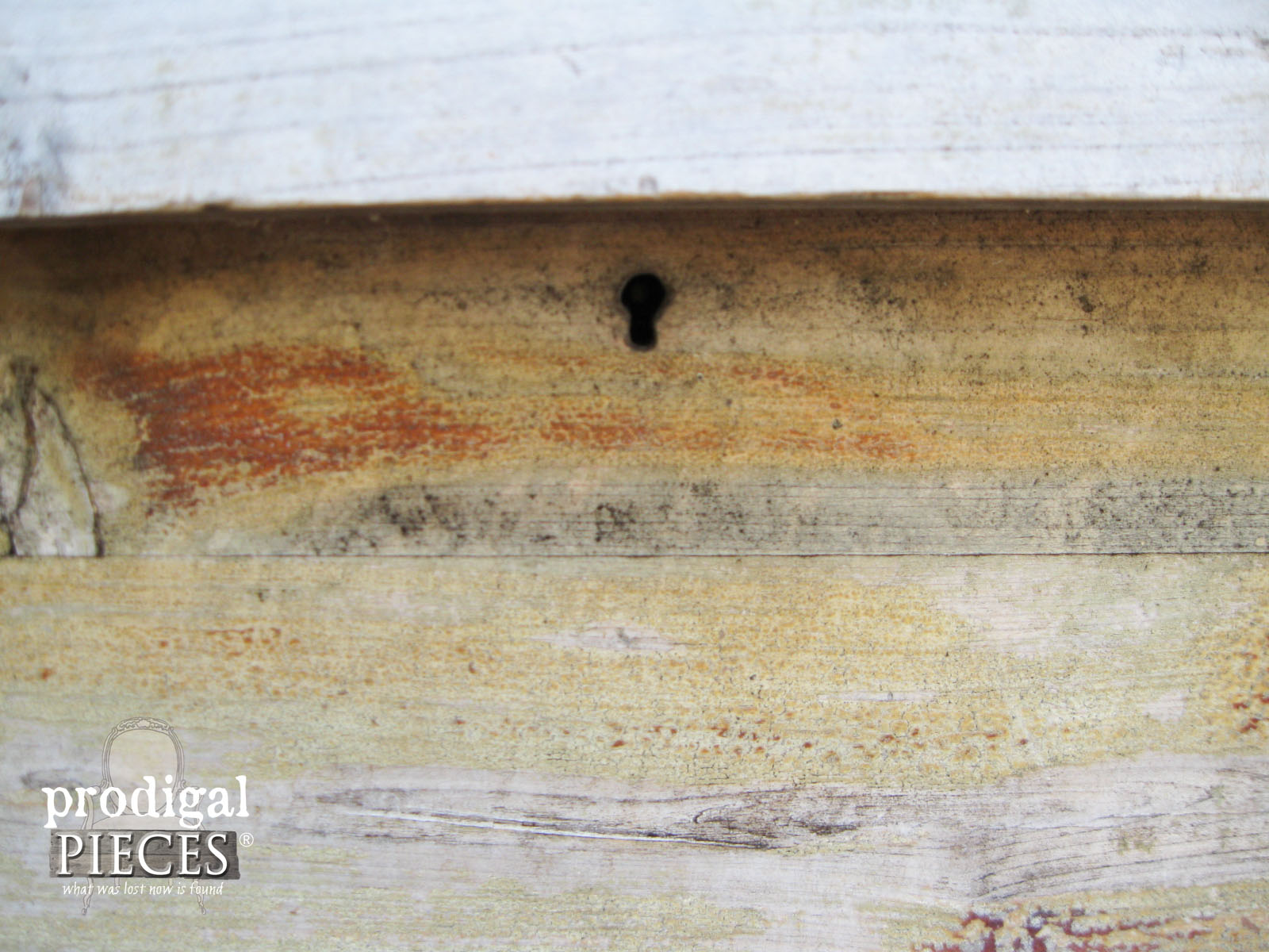 Old Escutcheon Hole on Cedar Chest | Prodigal Pieces | www.prodigalpieces.com