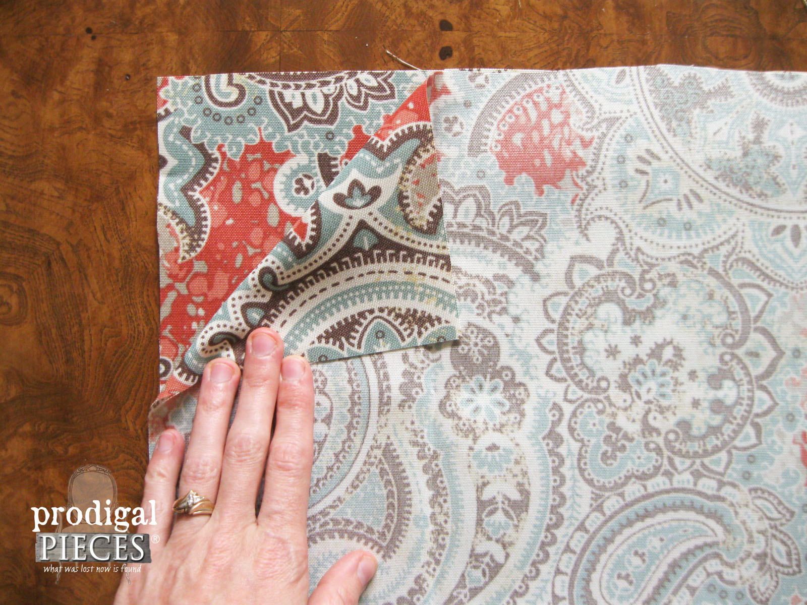 Lay Pillow Fabric Right Sides Facing Each Other | Prodigal Pieces | www.prodigalpieces.com