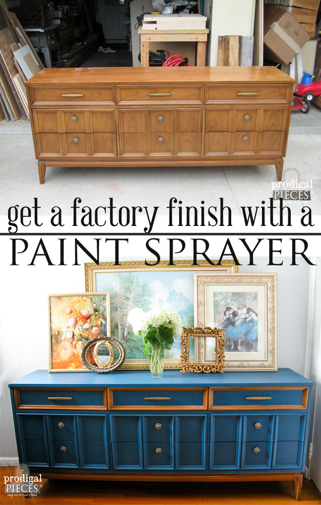 How to Achieve a Factory Finish with a Paint Sprayer by Prodigal Pieces | prodigalpieces.com