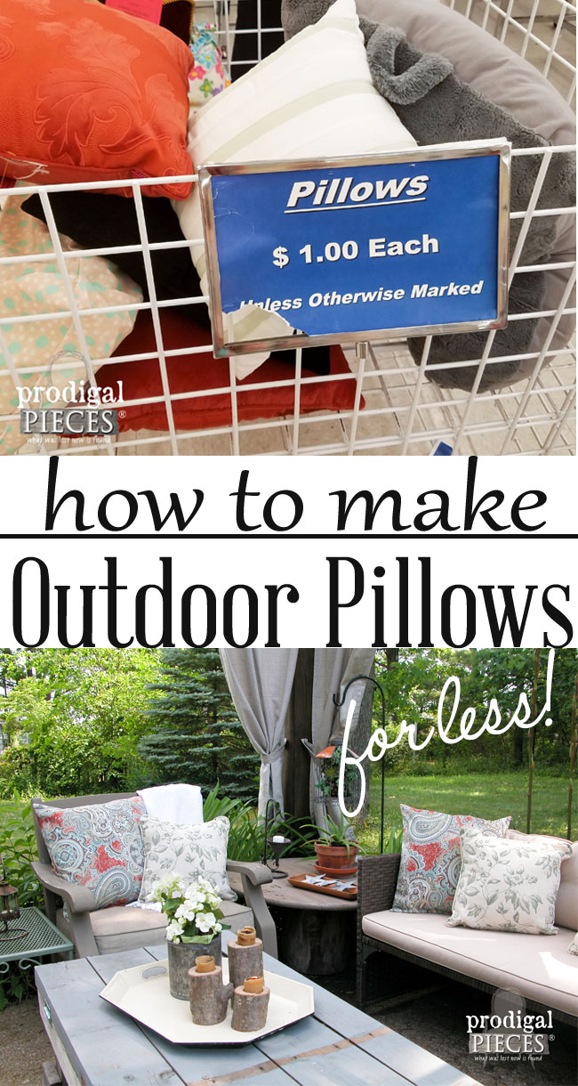 Make Your Own Outdoor Pillows with this Easy & Budget-Friendly Tutorial by Prodigal Pieces | prodigalpieces.com