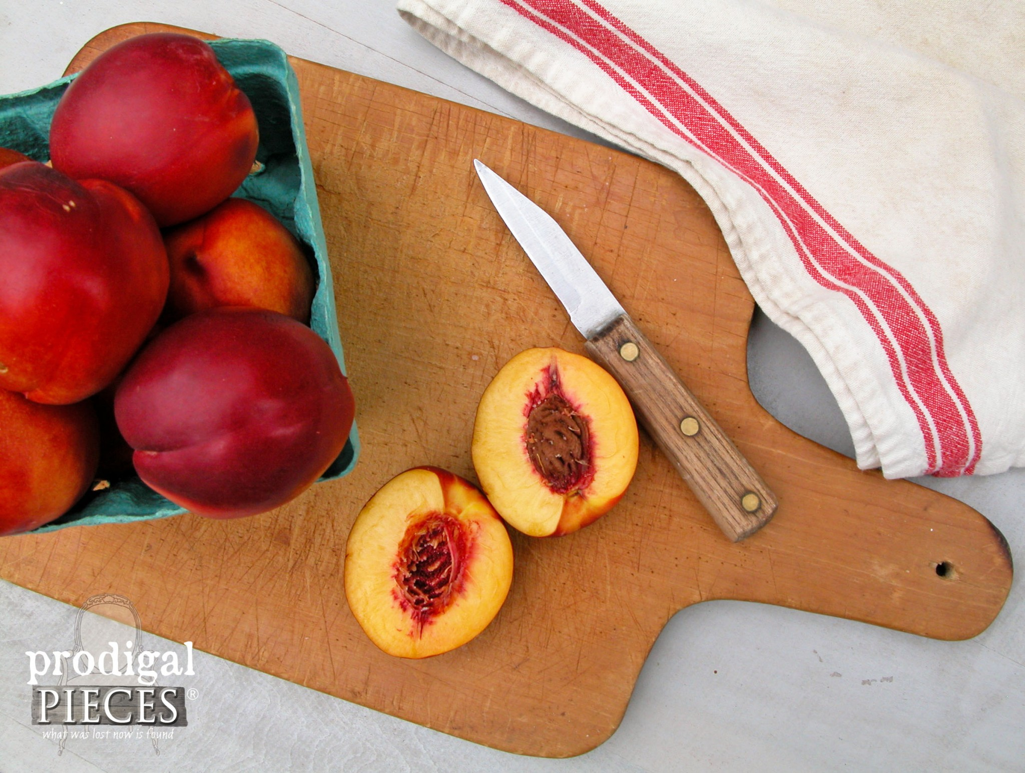 Selection of Fresh Sliced Nectarines for Roasted Stone Fruit Dessert by Prodigal Pieces | www.prodigalpieces.com