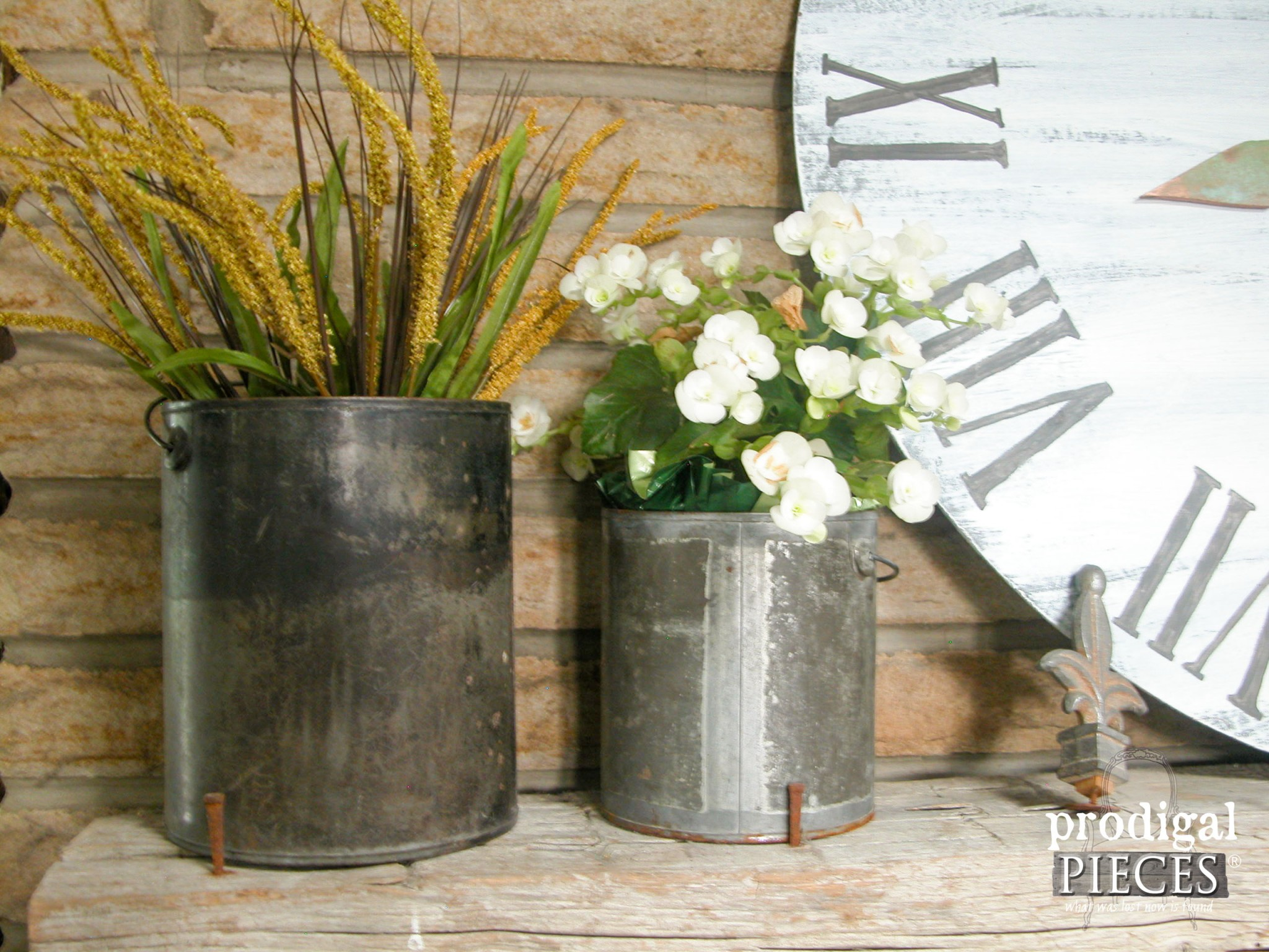 Old Paint Cans Make Perfect Rustic Planters | Prodigal Pieces | www.prodigalpieces.com