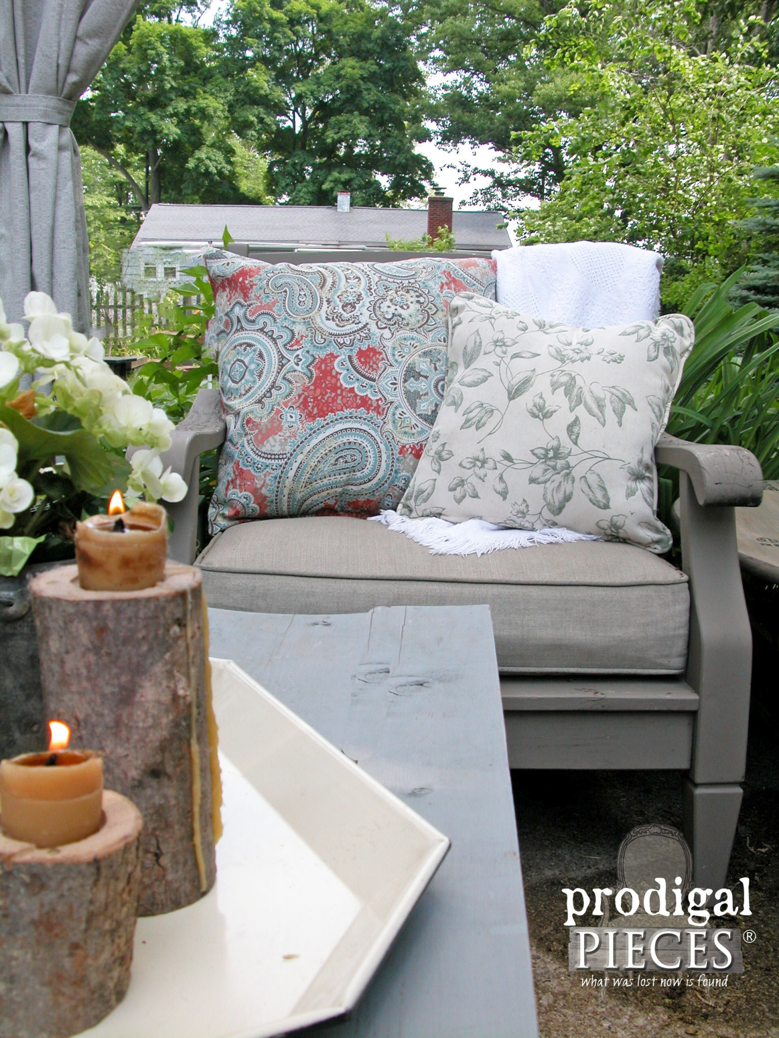 Create DIY Outdoor Pillows with this Easy to Follow Tutorial by Prodigal Pieces | www.prodigalpieces.com