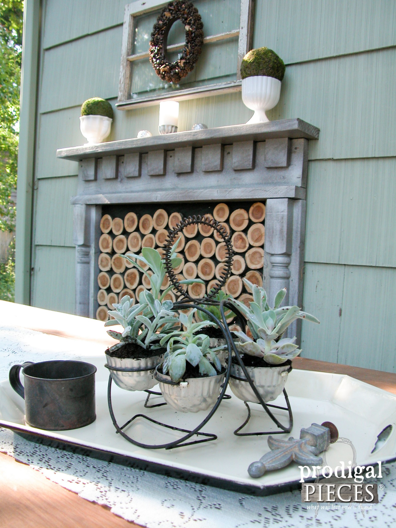 Succulents in Repurposed Planter on Patio by Prodigal Pieces | www.prodigalpieces.com