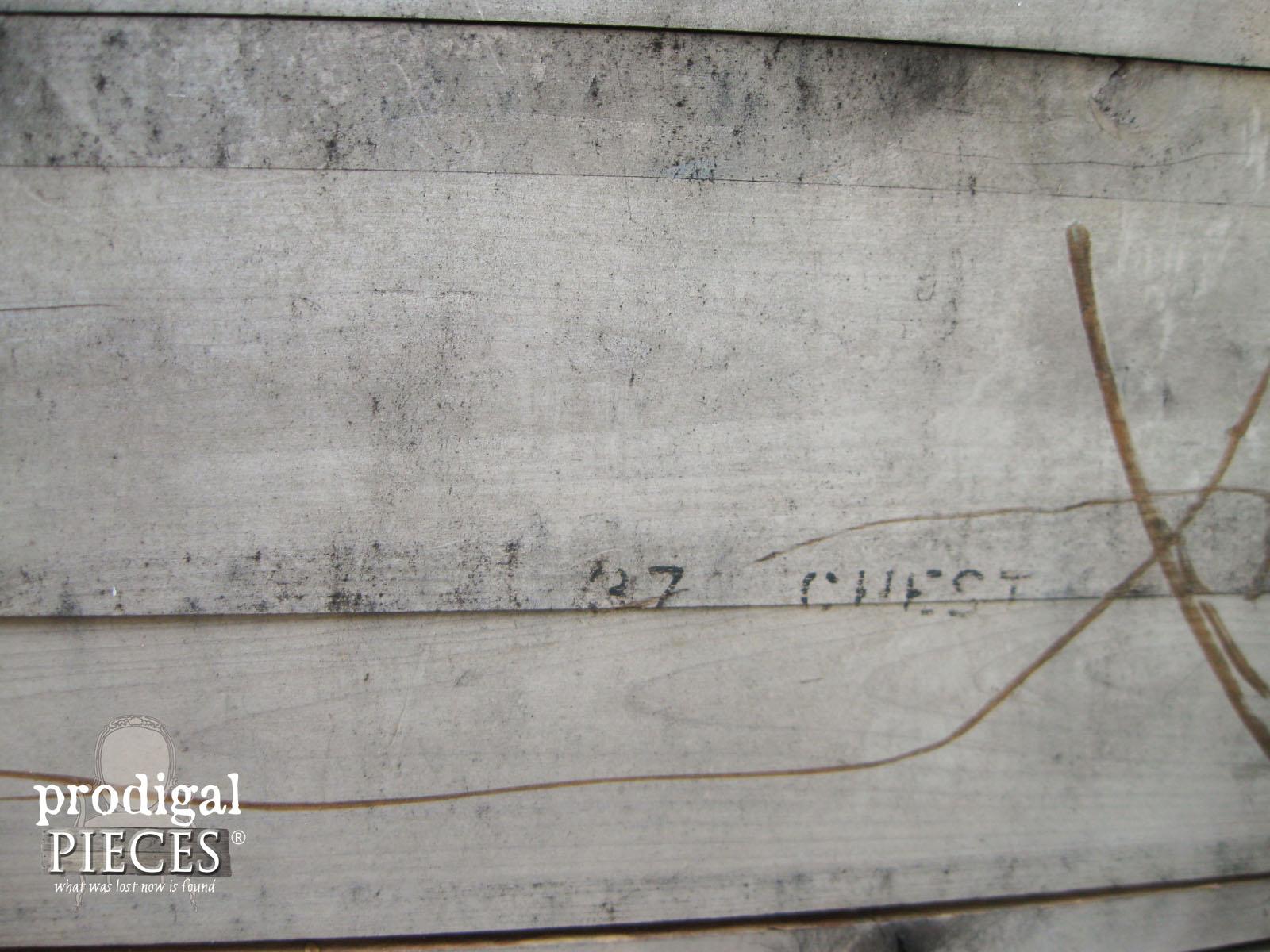 Original Stamp on Cedar Chest | Prodigal Pieces | www.prodigalpieces.com