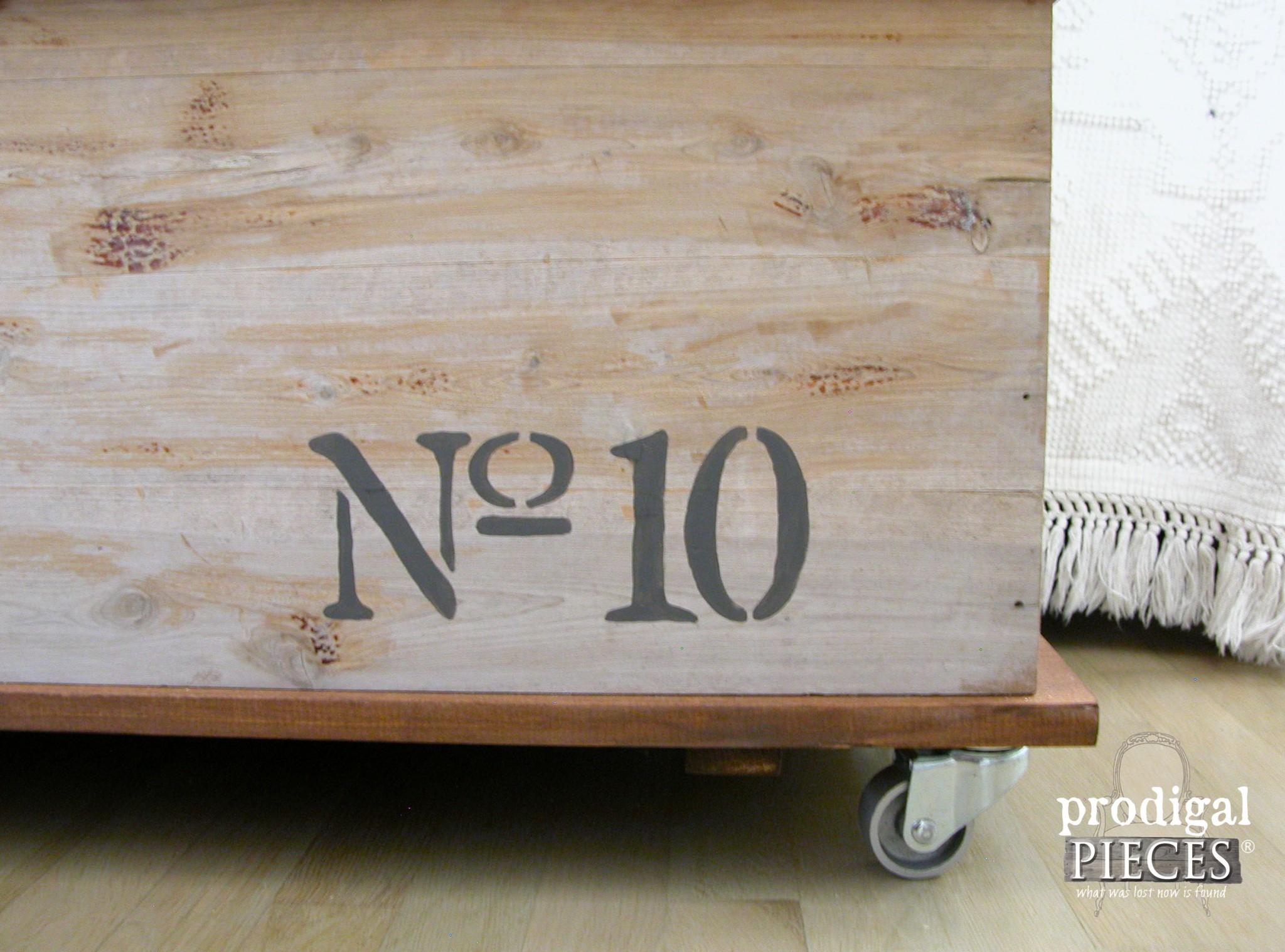 Stenciled Cedar Chest by Prodigal Pieces | www.prodigalpieces.com