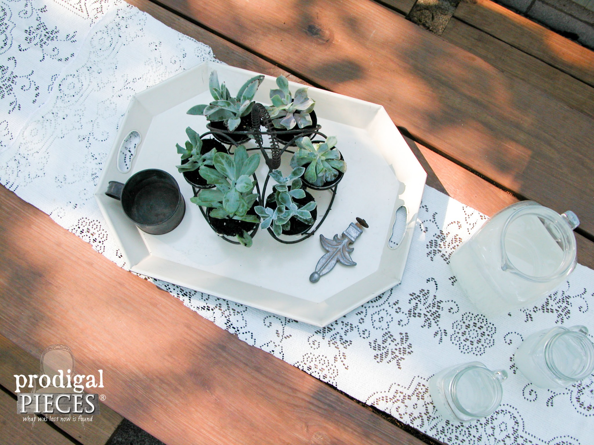 Repurposed Planter with Miniature Succulents | Prodigal Pieces | www.prodigalpieces.com