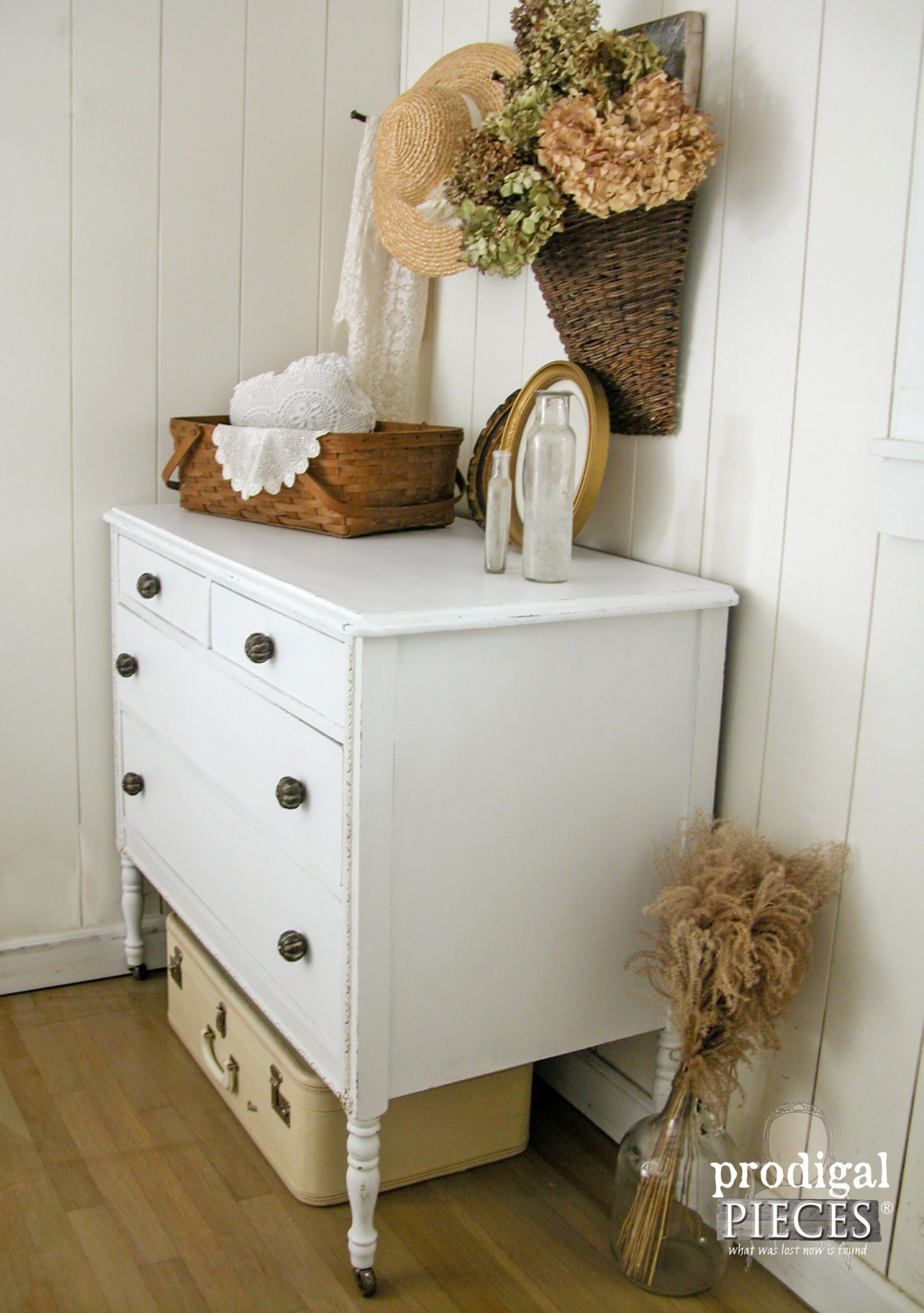 Rustic Chic White Farmhouse Dresser by Prodigal Pieces | www.prodigalpieces.com