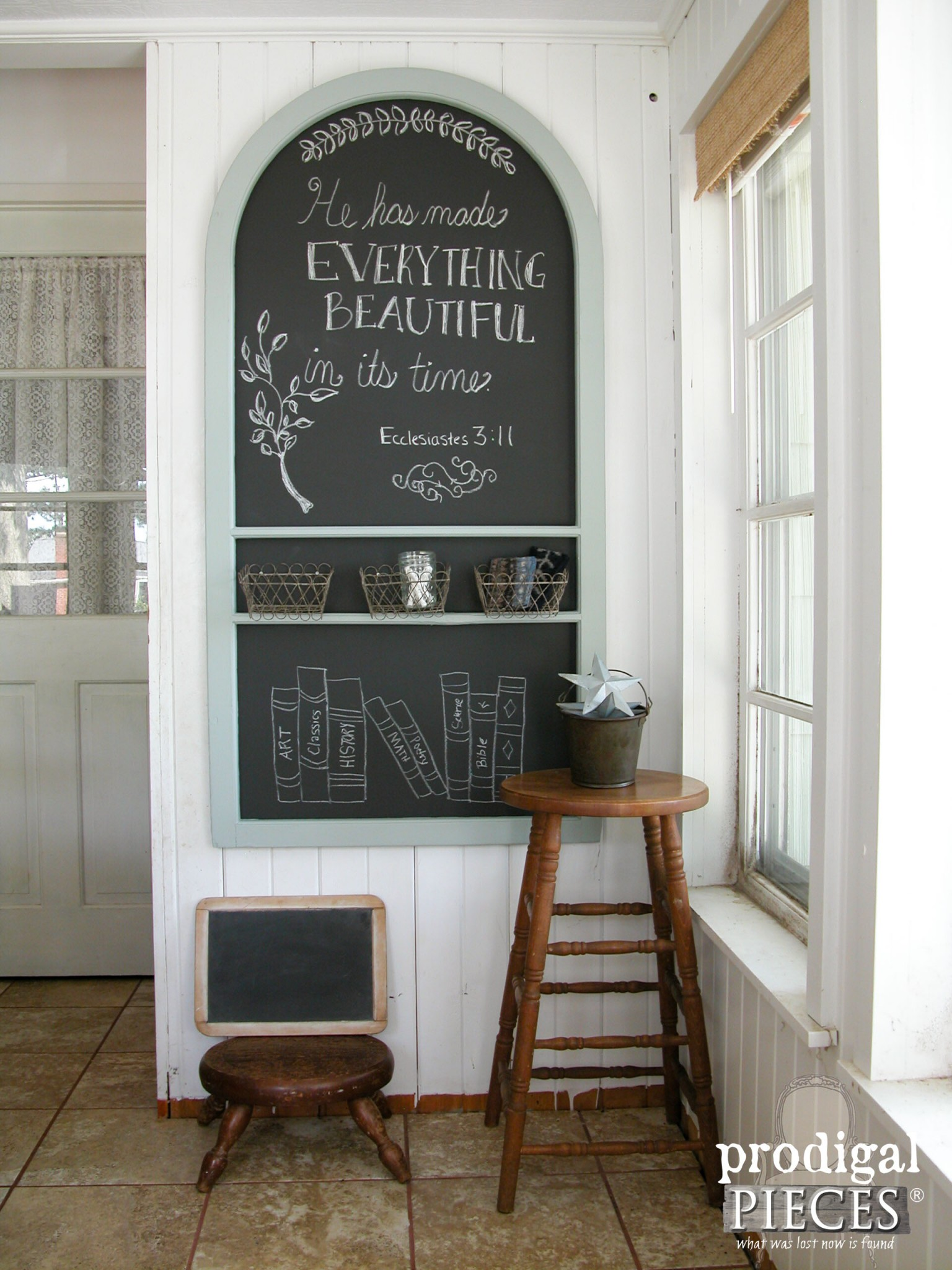 Chalkboard Made from Repurposed Screen Door by Prodigal Pieces | www.prodigalpieces.com