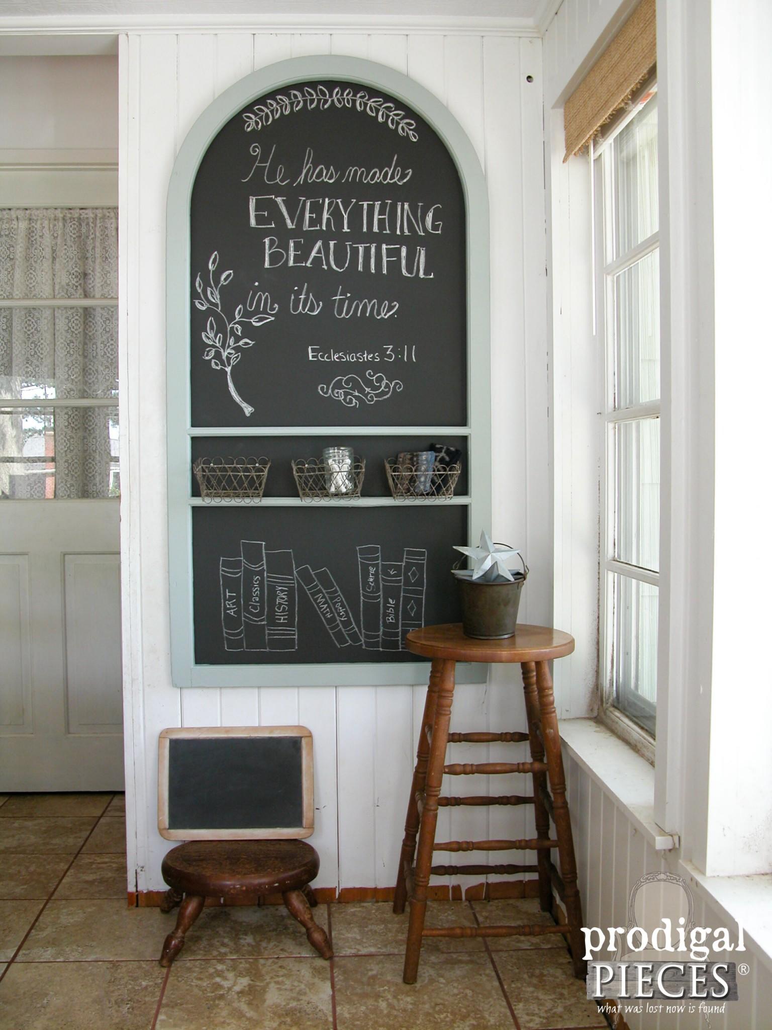 repurposed screen door chalkboard prodigal pieces
