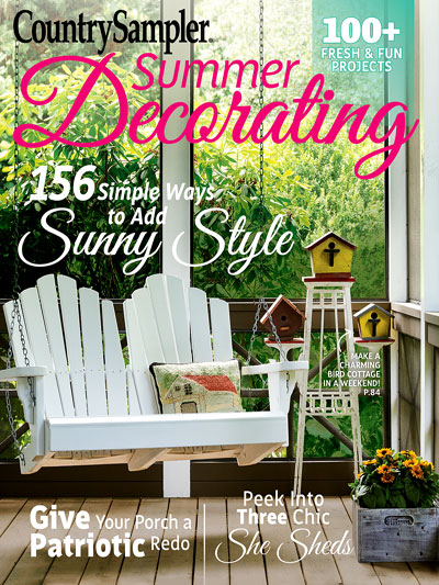 Country Sampler Summer Decorating 2017 with Prodigal Pieces DIY Feature | prodigalpieces.com