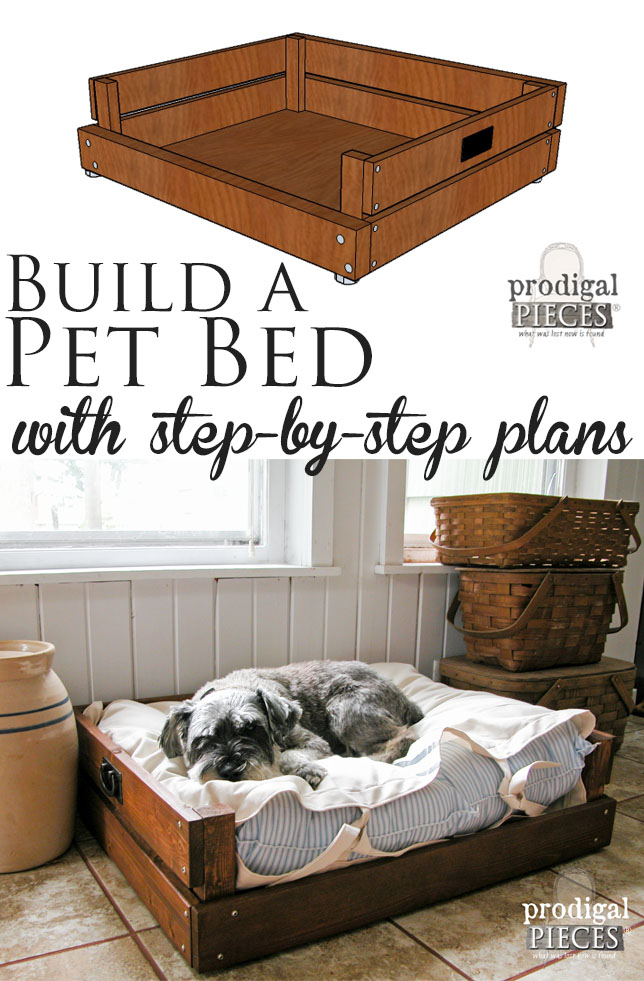Build a Pet Bed with Step-By-Step Plans & Tutorial by Prodigal Pieces | prodigalpieces.com