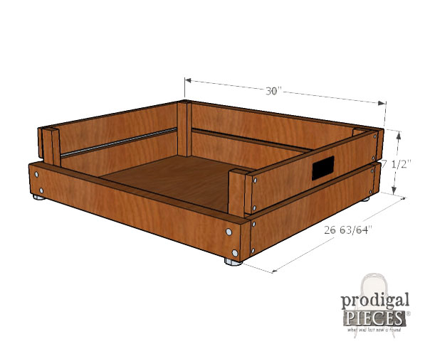 Dimensions for DIY Pet Bed with Plans & Tutorial by Prodigal Pieces | www.prodigalpieces.com