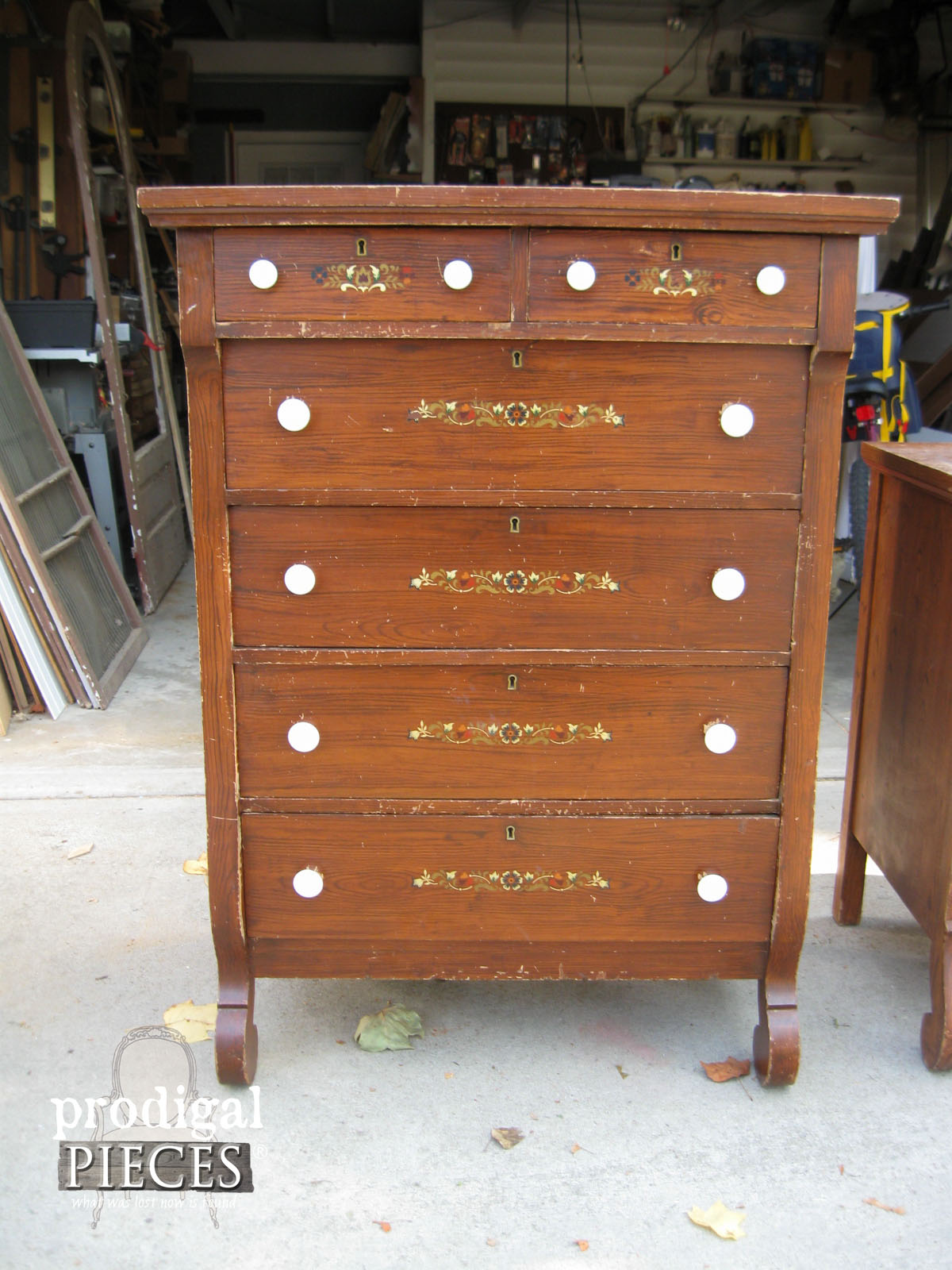Vintage Empire Chest of Drawers for Makeover by Prodigal Pieces | www.prodigalpieces.com