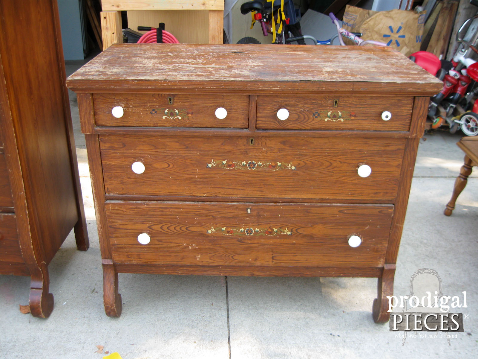 Farmhouse Empire Dresser Before Makeover by Prodigal Pieces | www.prodigalpieces.com