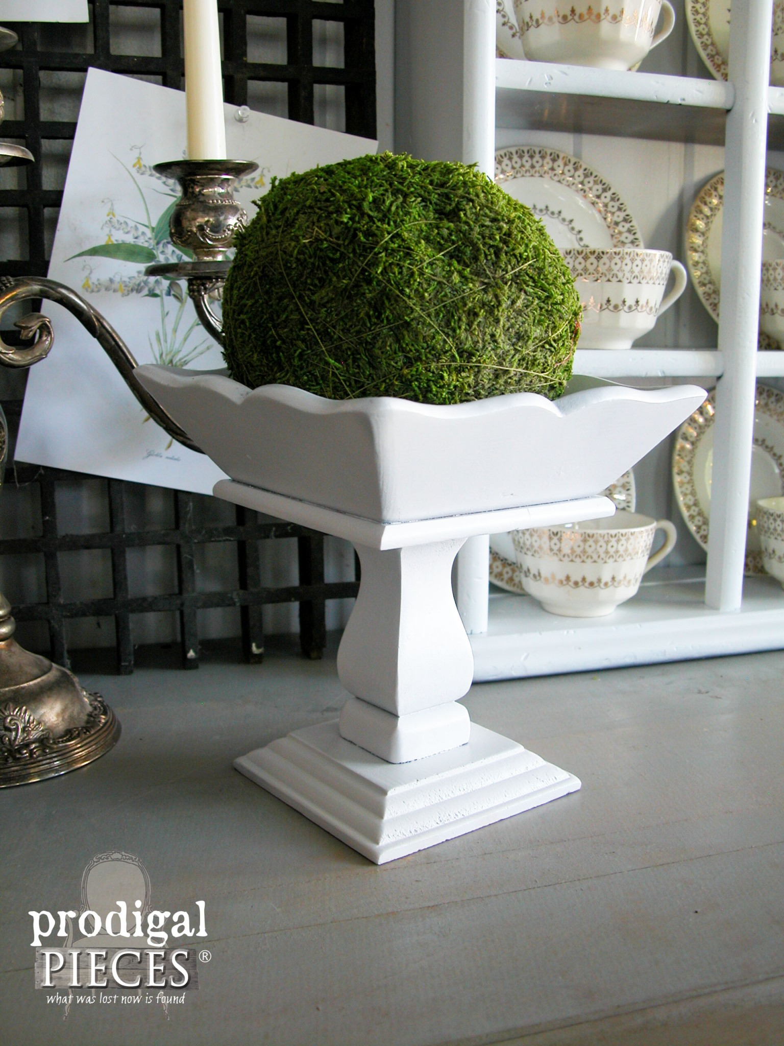 Handmade Wooden Pedestal Made New with Paint by Prodigal Pieces | www.prodigalpieces.com
