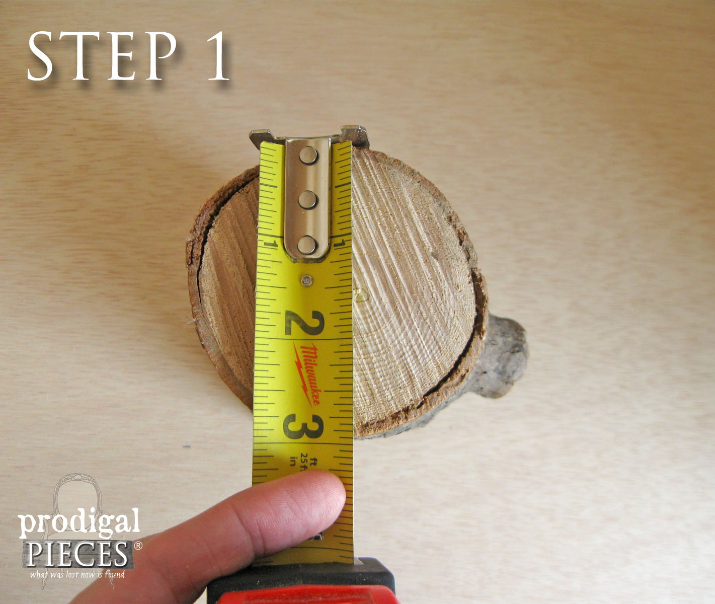 Measuring Log Diameter | Prodigal Pieces | www.prodigalpieces.com