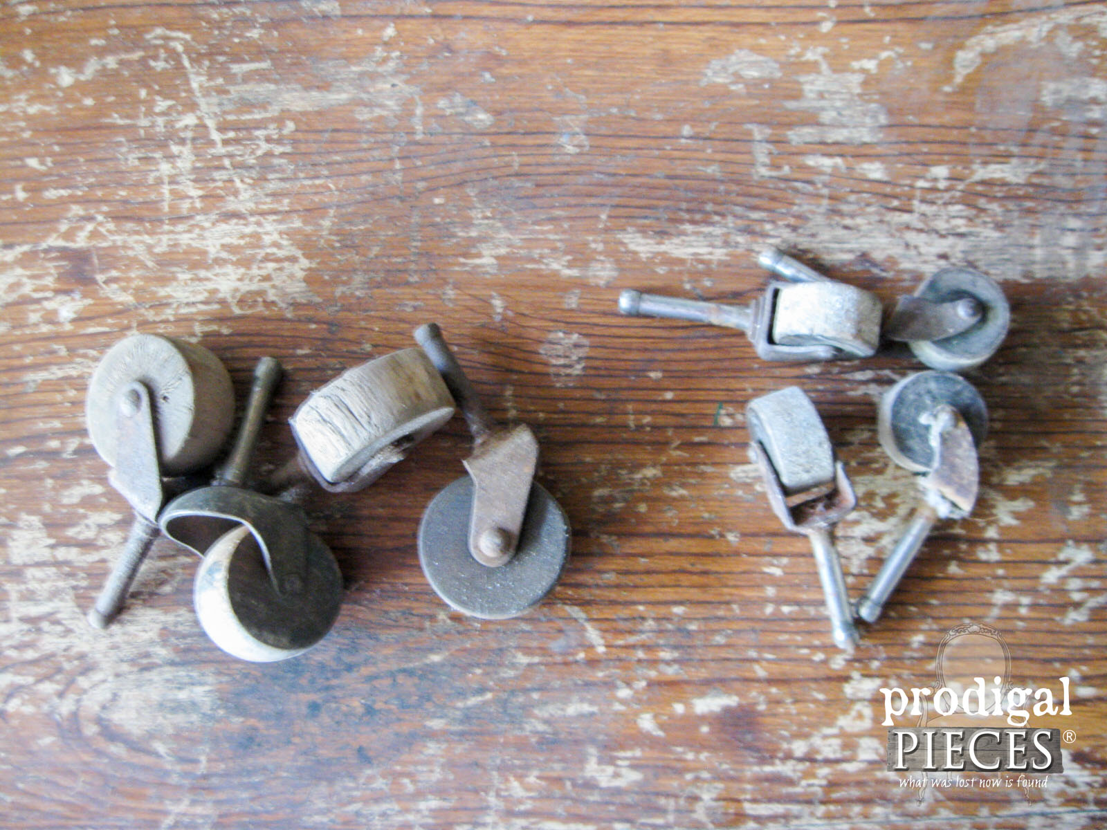 Antique Wooden Casters for Empire Chest Makeover | Prodigal Pieces | www.prodigalpieces.com