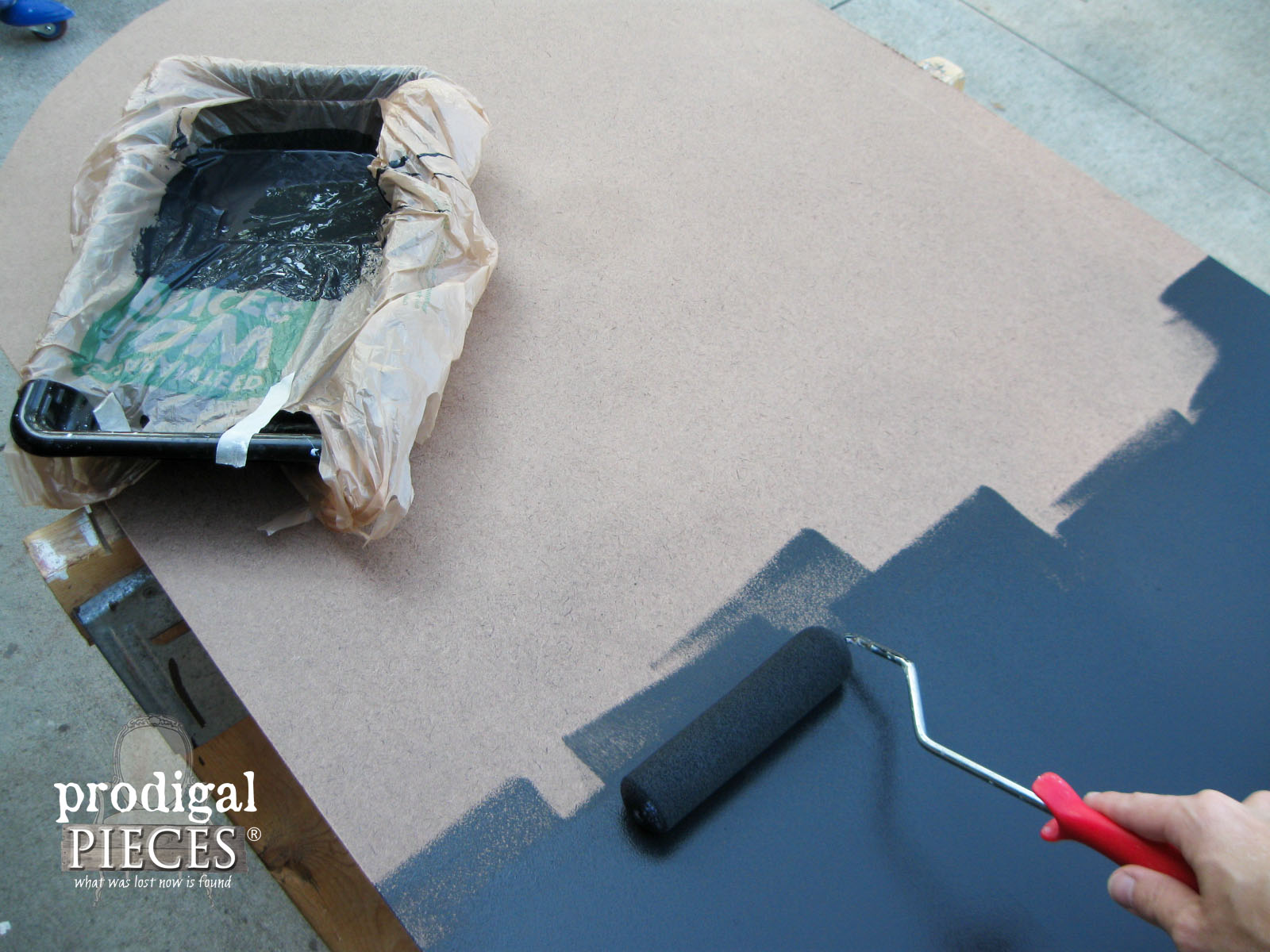 Painting Chalkboard with Flat Black Paint | Prodigal Pieces | www.prodigalpieces.com