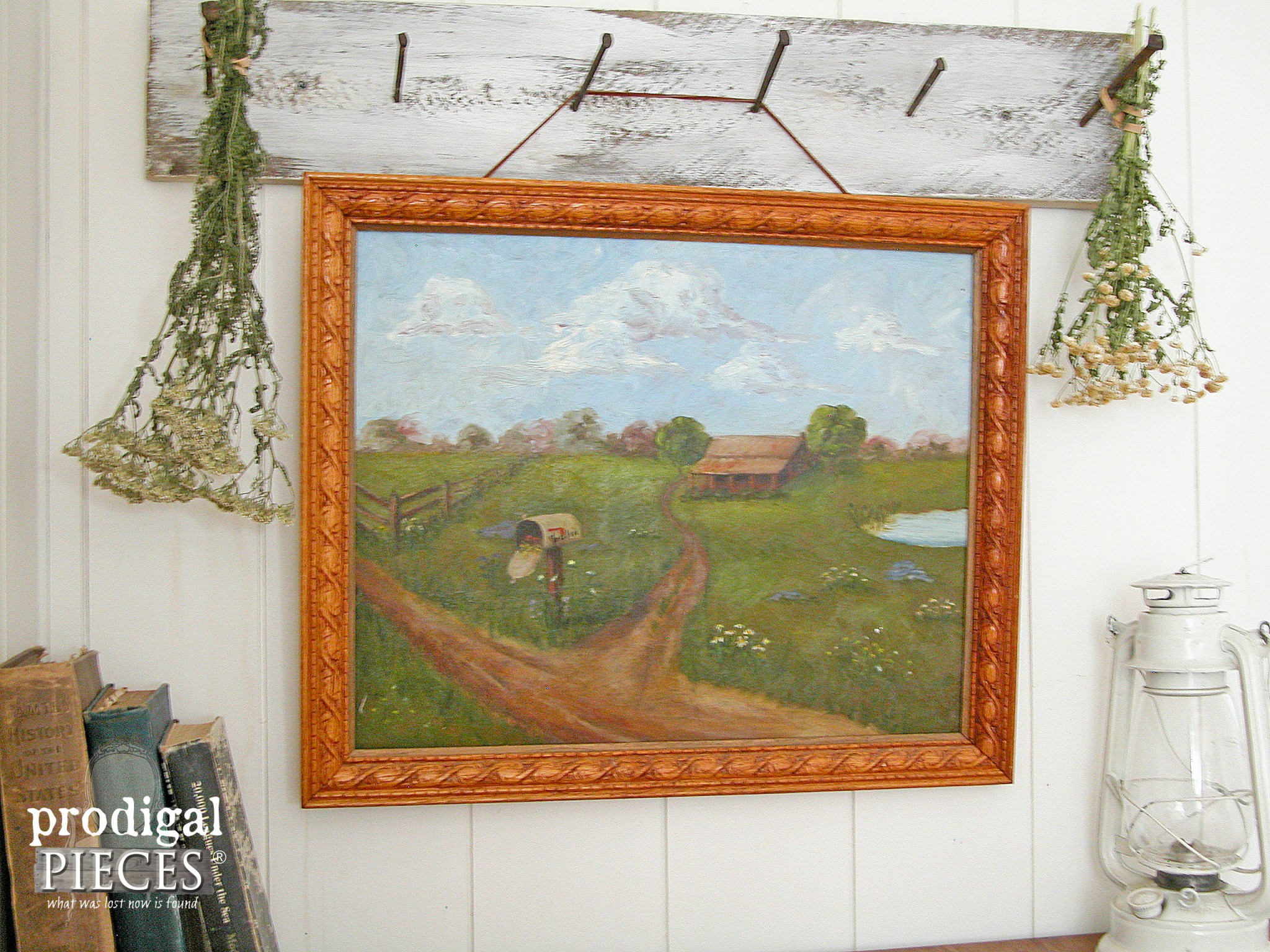 """Summertime Home"" Pastoral Painting 