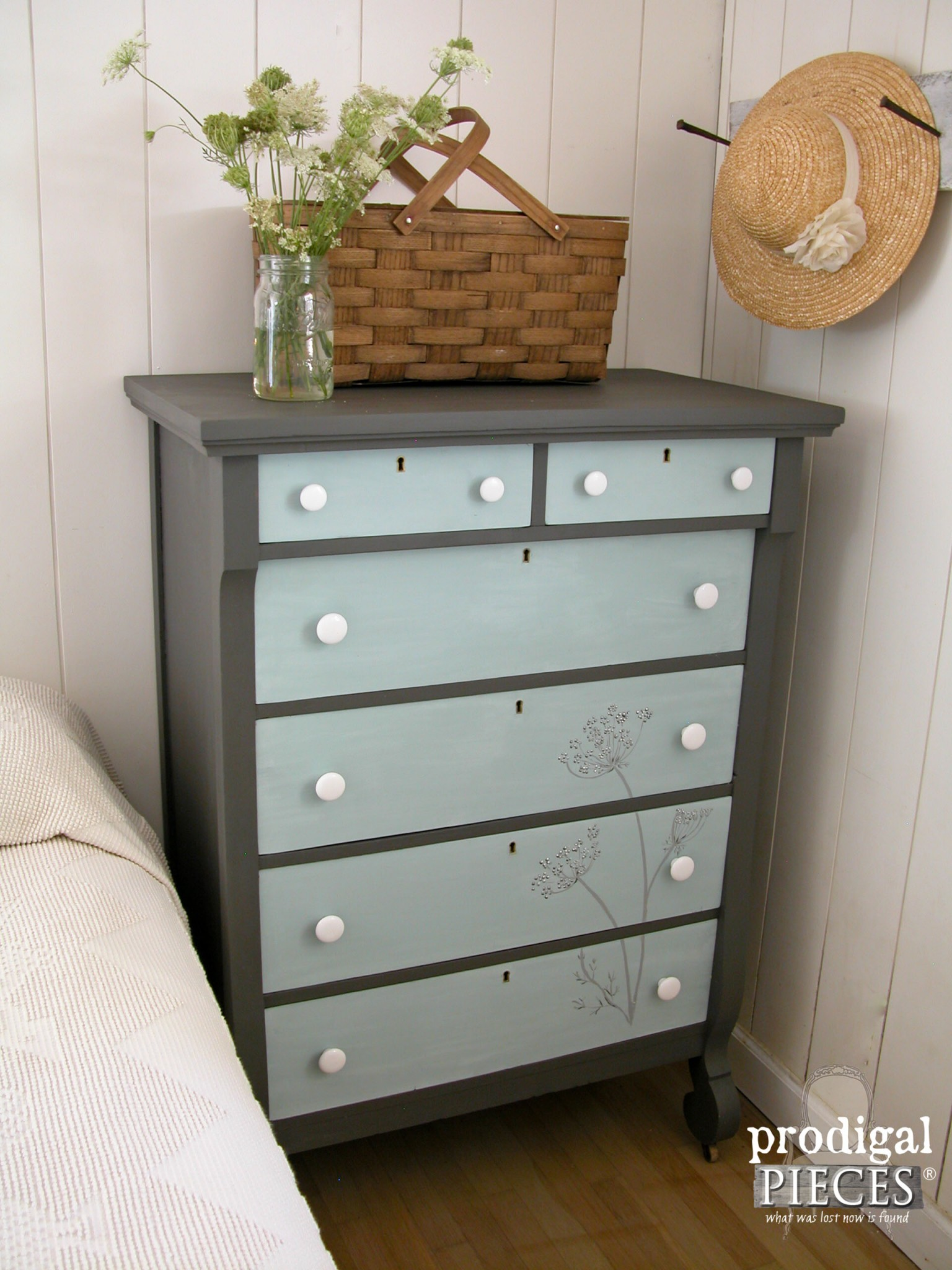 Farmhouse Style Hand Painted Empire Chest by Prodigal Pieces | prodigalpieces.com