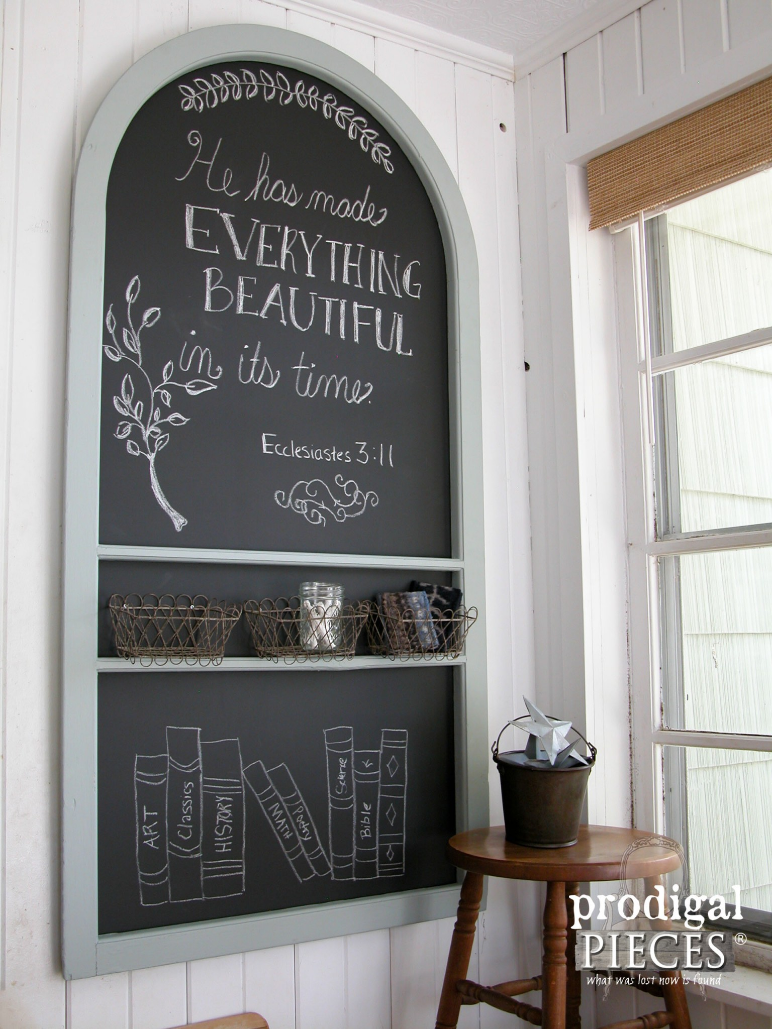 Wall-Mounted Repurposed Screen Door Chalkboard By Prodigal Pieces |  .prodigalpieces.com