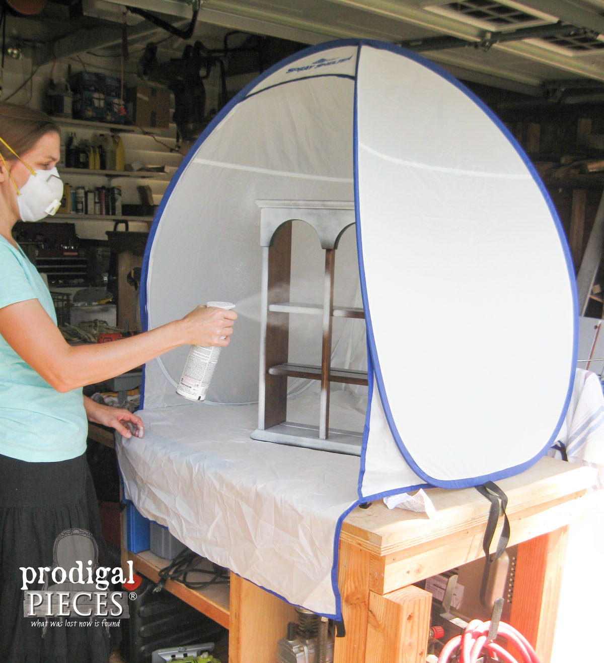 HomeRight Small Spray Shelter Demonstration by Prodigal Pieces | www.prodigalpieces.com