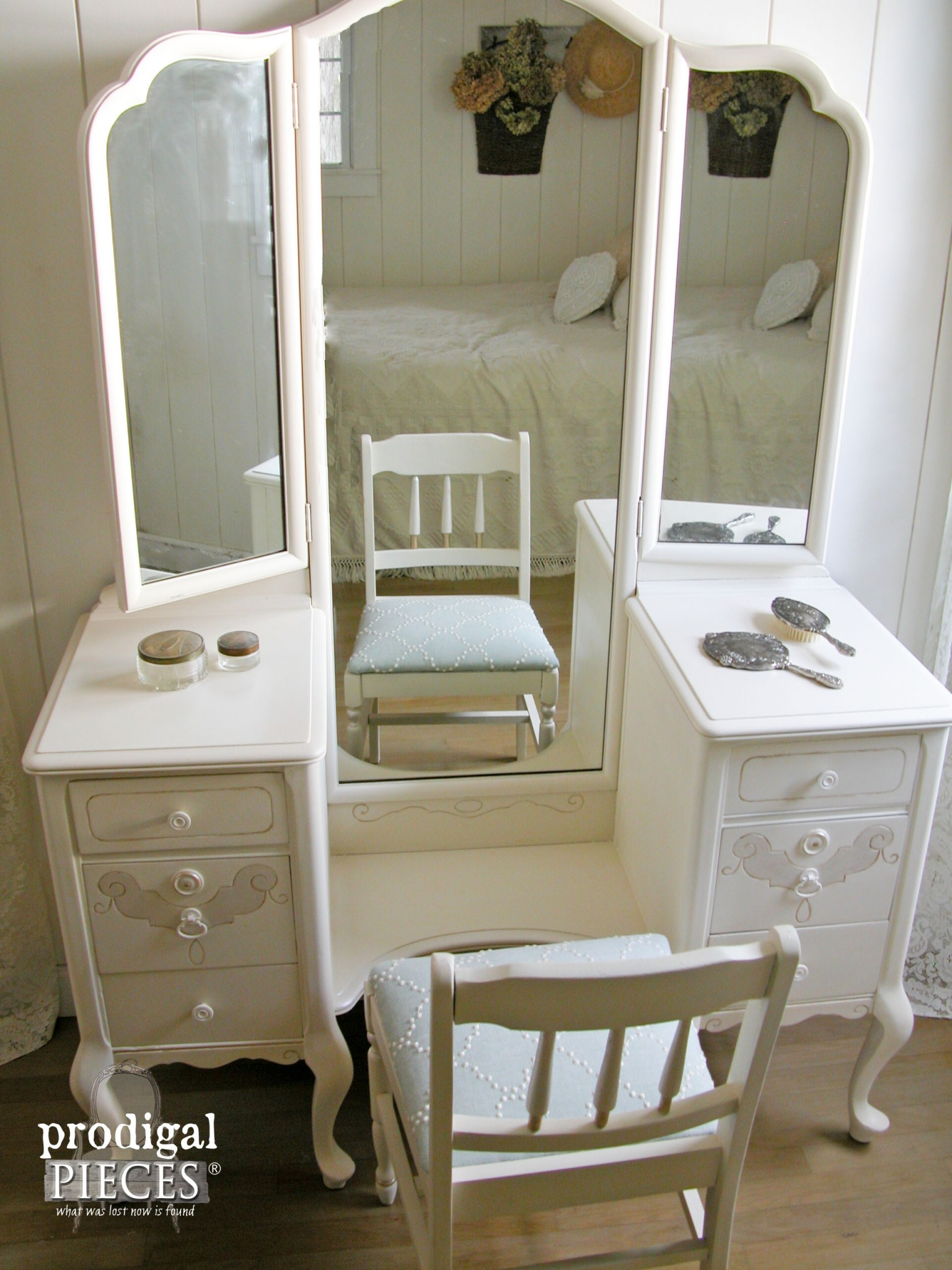 Top View of Custom Vanity by Prodigal Pieces | www.prodigalpieces.com