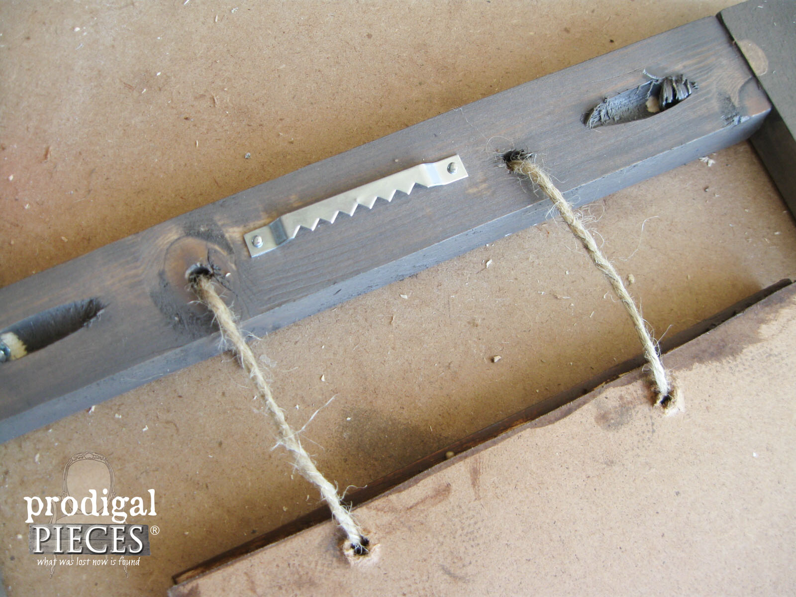 Adding Hanging Hardware to Hello Fall Sign | Prodigal Pieces | www.prodigalpieces.com