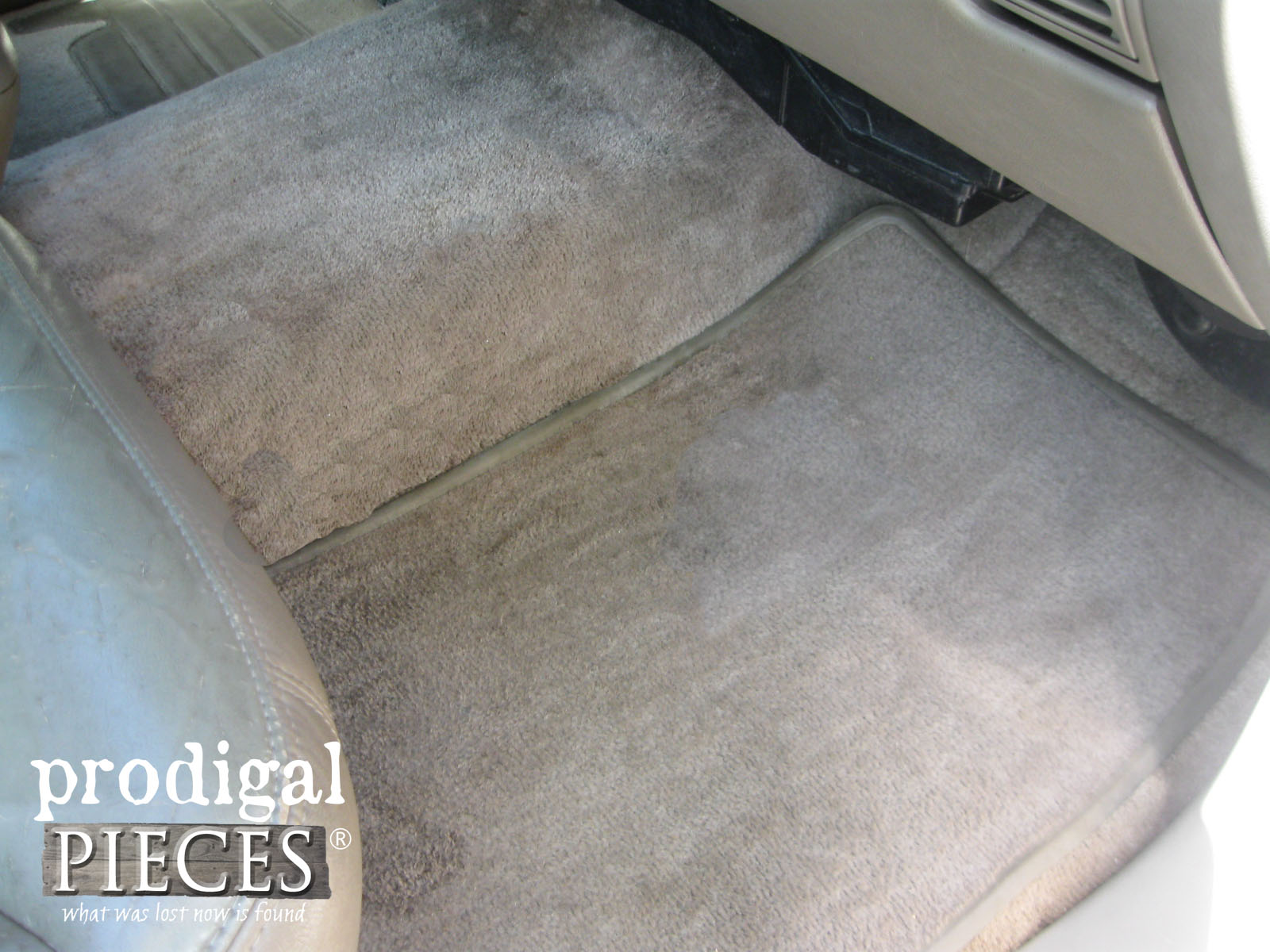 Vehicle Carpet After Chemical Free Cleaning Using the AutoRight Steam Machine by Prodigal Pieces | www.prodigalpieces.com