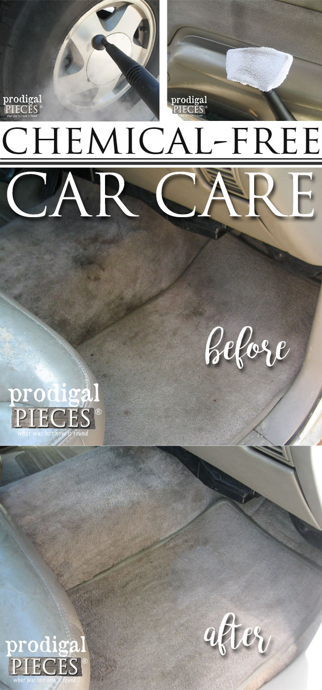 Chemical Free Car Care and Cleaning Using the AutoRight Steam Machine by Prodigal Pieces | www.prodigalpieces.com