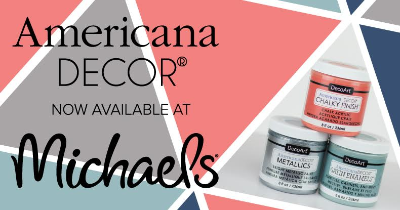 New Americana Decor Metallic Paint now available at Michael's Craft Store | Prodigal Pieces | www.prodigalpieces.com