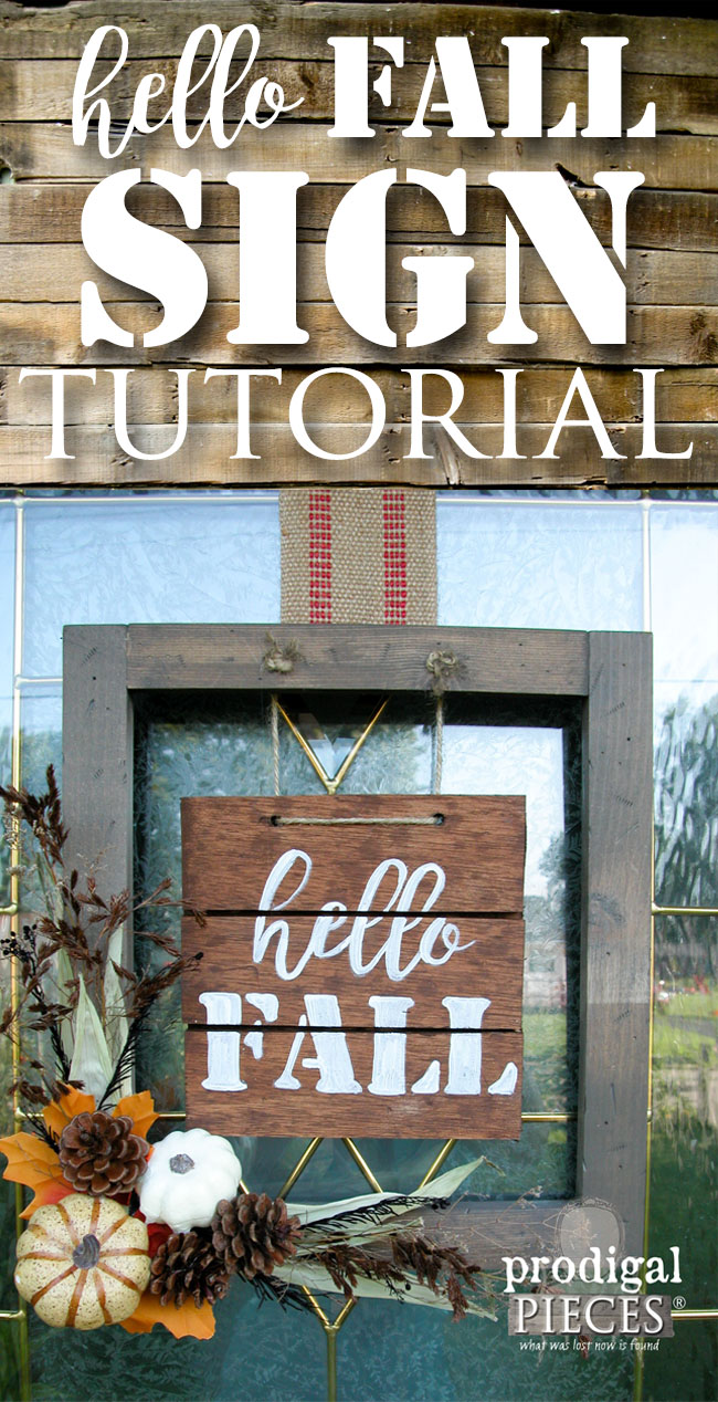 Make this Hello Fall Welcome Sign and Wall Decor with the DIY Tutorial by Prodigal Pieces | www.prodigalpieces.com