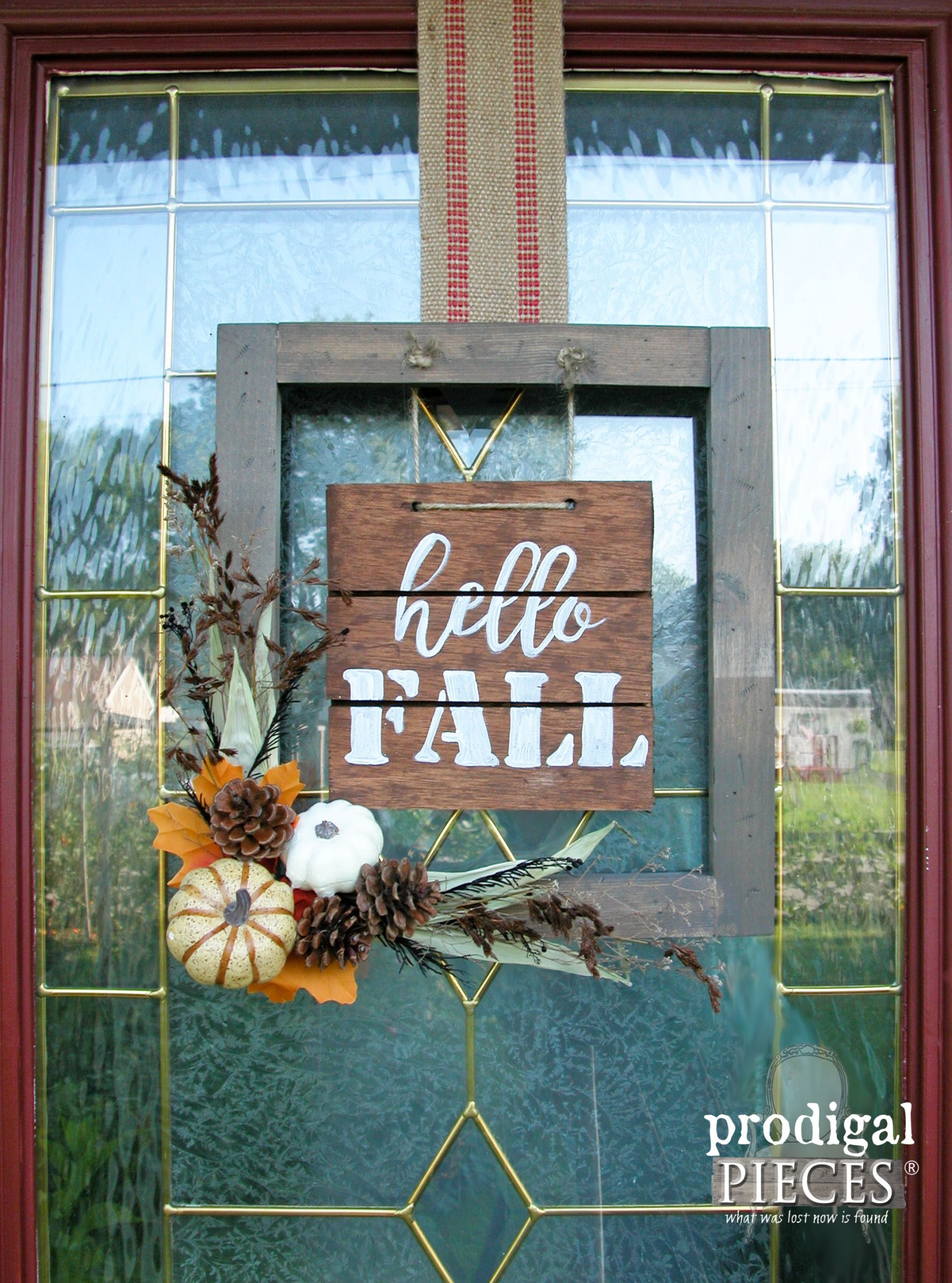 Create this Hello Fall Sign for your Front Door by Prodigal Pieces | www.prodigalpieces.com