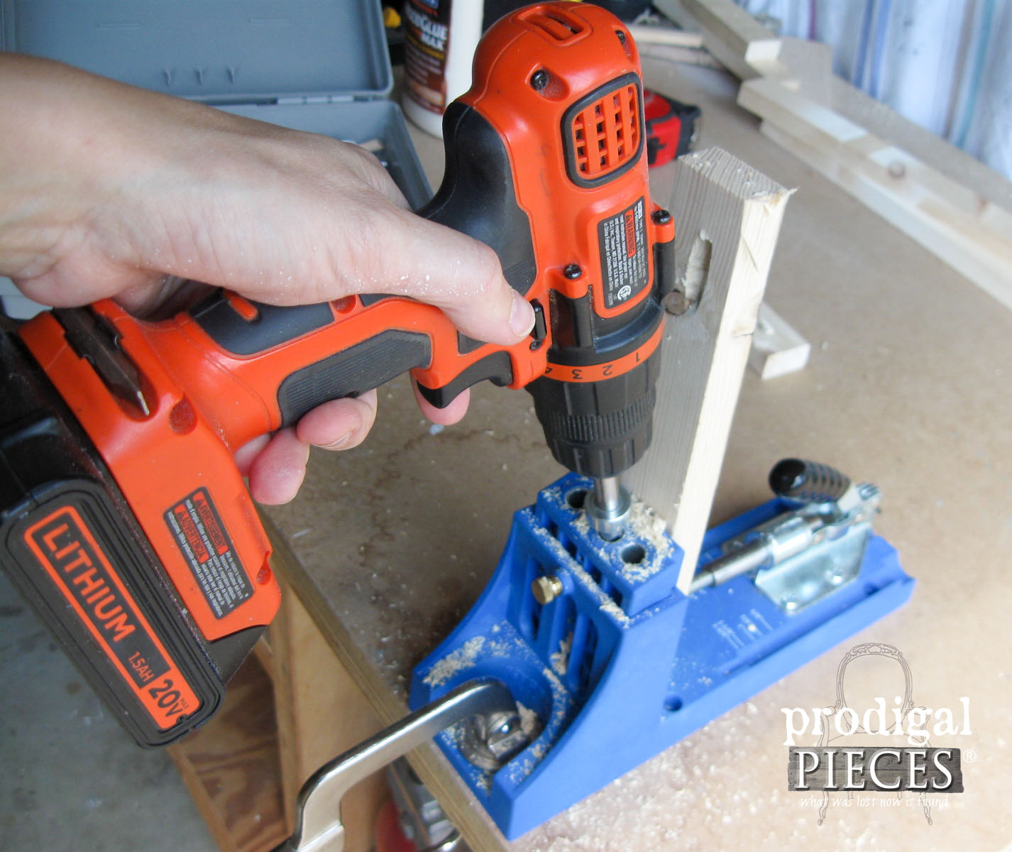 Using Kreg Jig to Create Pocket Screw Holes | Prodigal Pieces | www.prodigalpieces.com