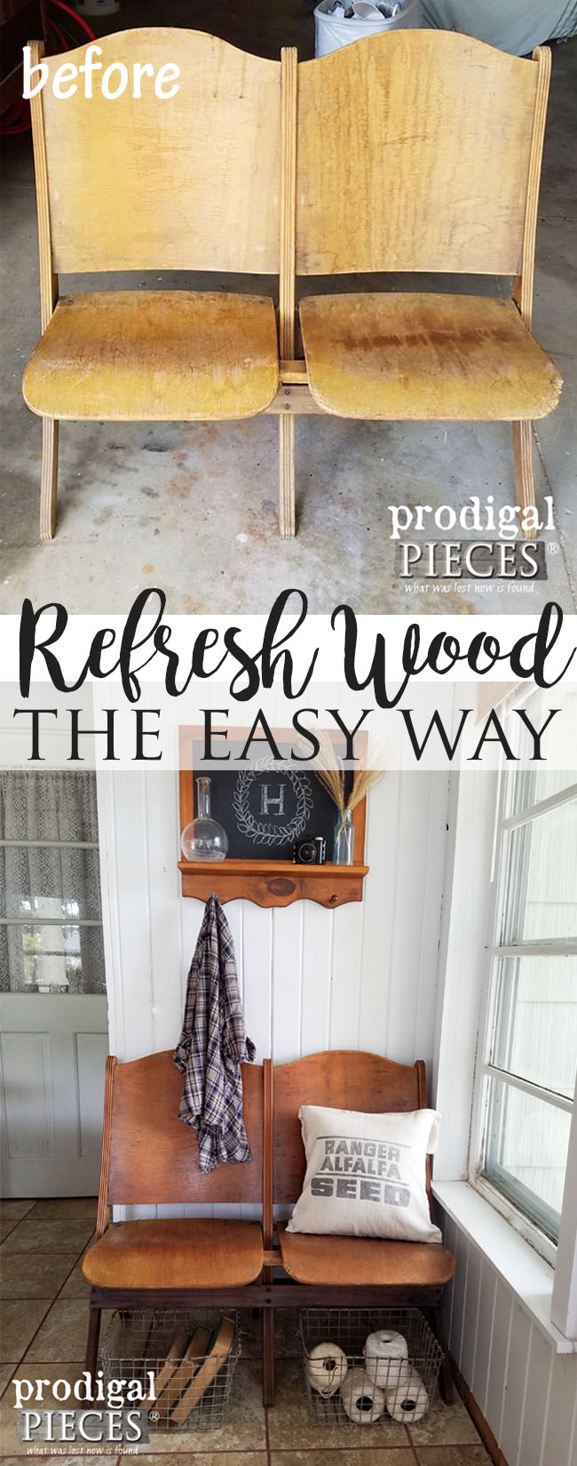 How to Refresh Old Wood with One Ingredient by Prodigal Pieces | www.prodigalpieces.com