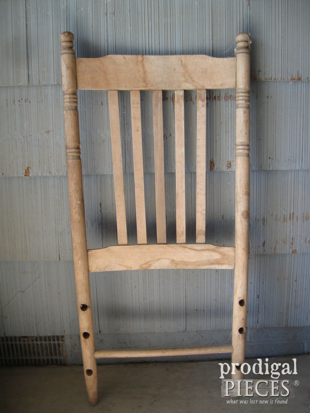 Broken Chair Before Repurposed Shelf | Prodigal Pieces | www.prodigalpieces.com