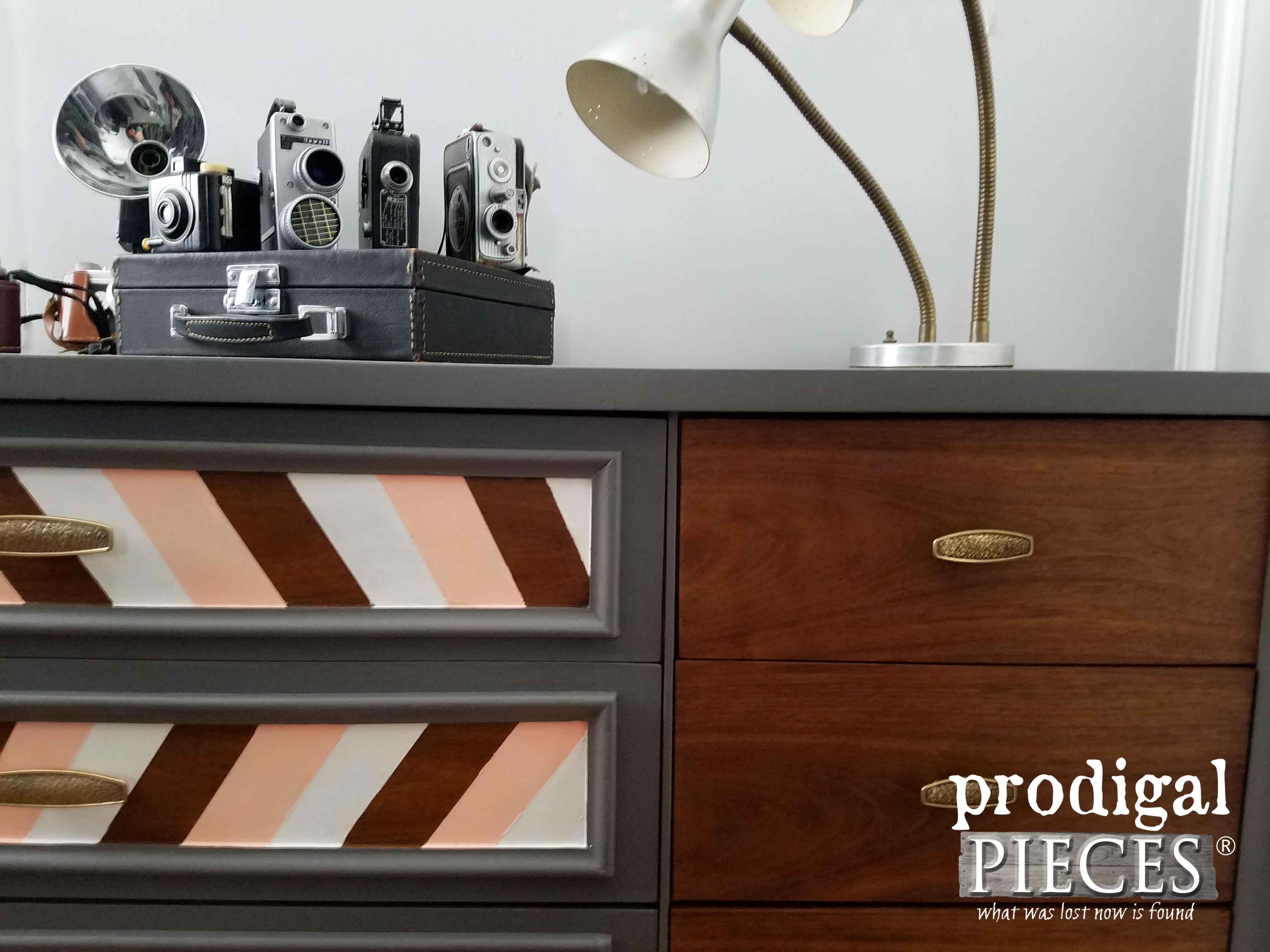 Geometric Design For Mid Century Modern Dresser Credenza | Prodigal Pieces  | Www.prodigalpieces.