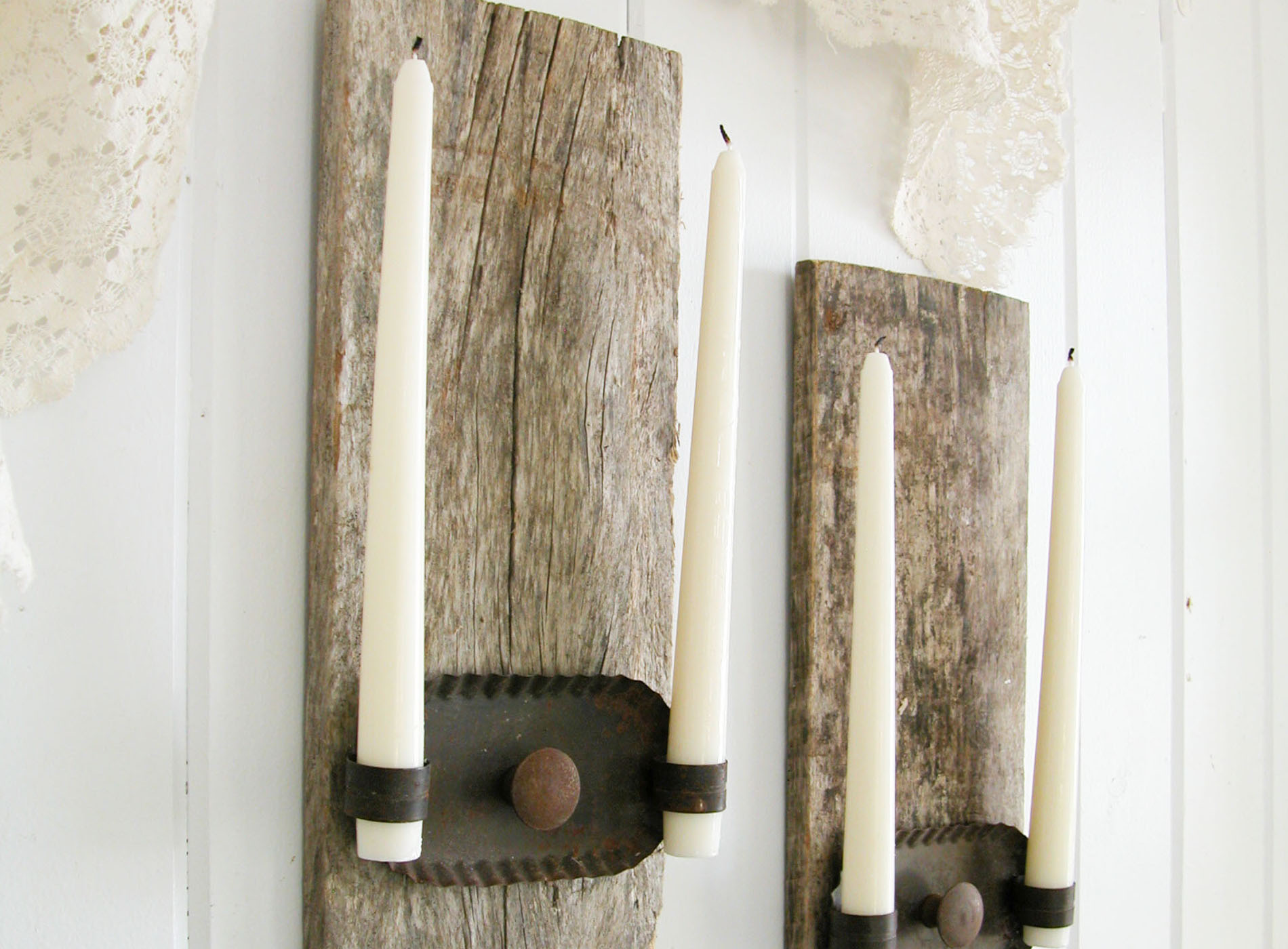 Featured Repurposed Candle Sconces by Prodigal Pieces | www.prodigalpieces.com