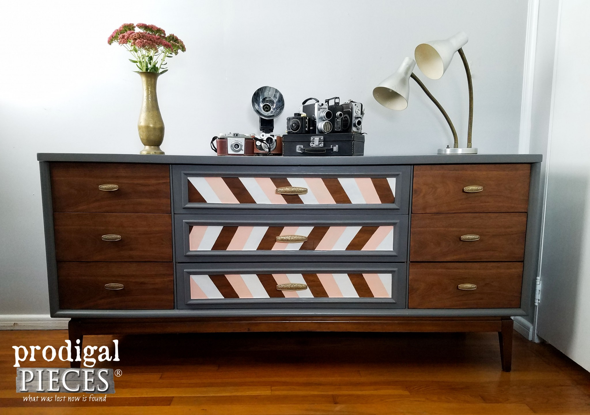 Mid Century Modern Dresser with Modern Chic Makeover by Prodigal Pieces | www.prodigalpieces.com