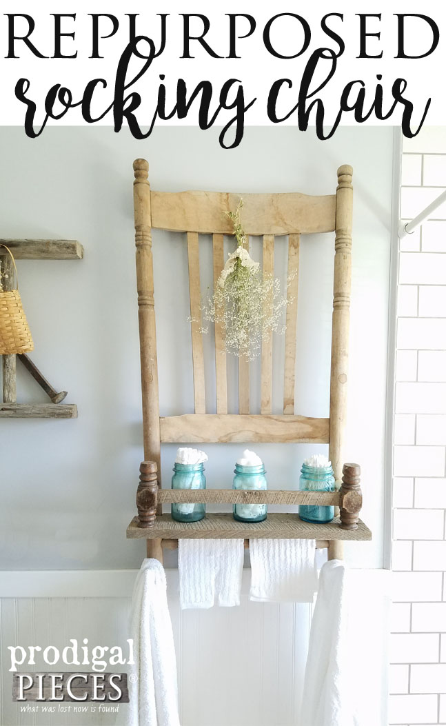 Broken Chair Repurposed into Wall Shelf with Reclaimed Barn Wood by Prodigal Pieces | www.prodigalpieces.com