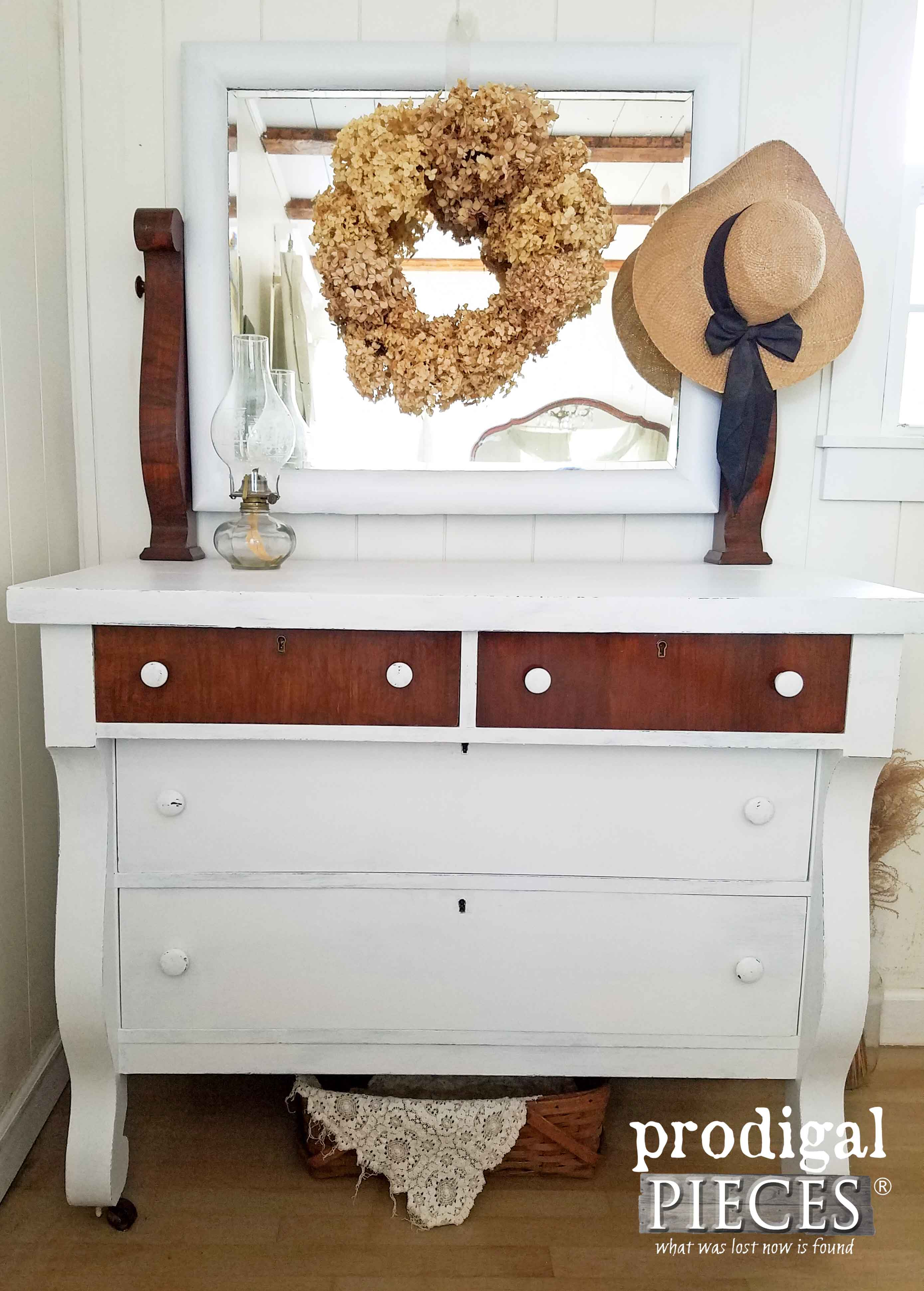 Antique Empire Chest Dresser With Mirror At Prodigal Pieces Prodigalpieces