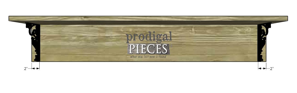 Attaching Decorative Brackets to DIY Coat Rack | Prodigal Pieces | www.prodigalpieces.com