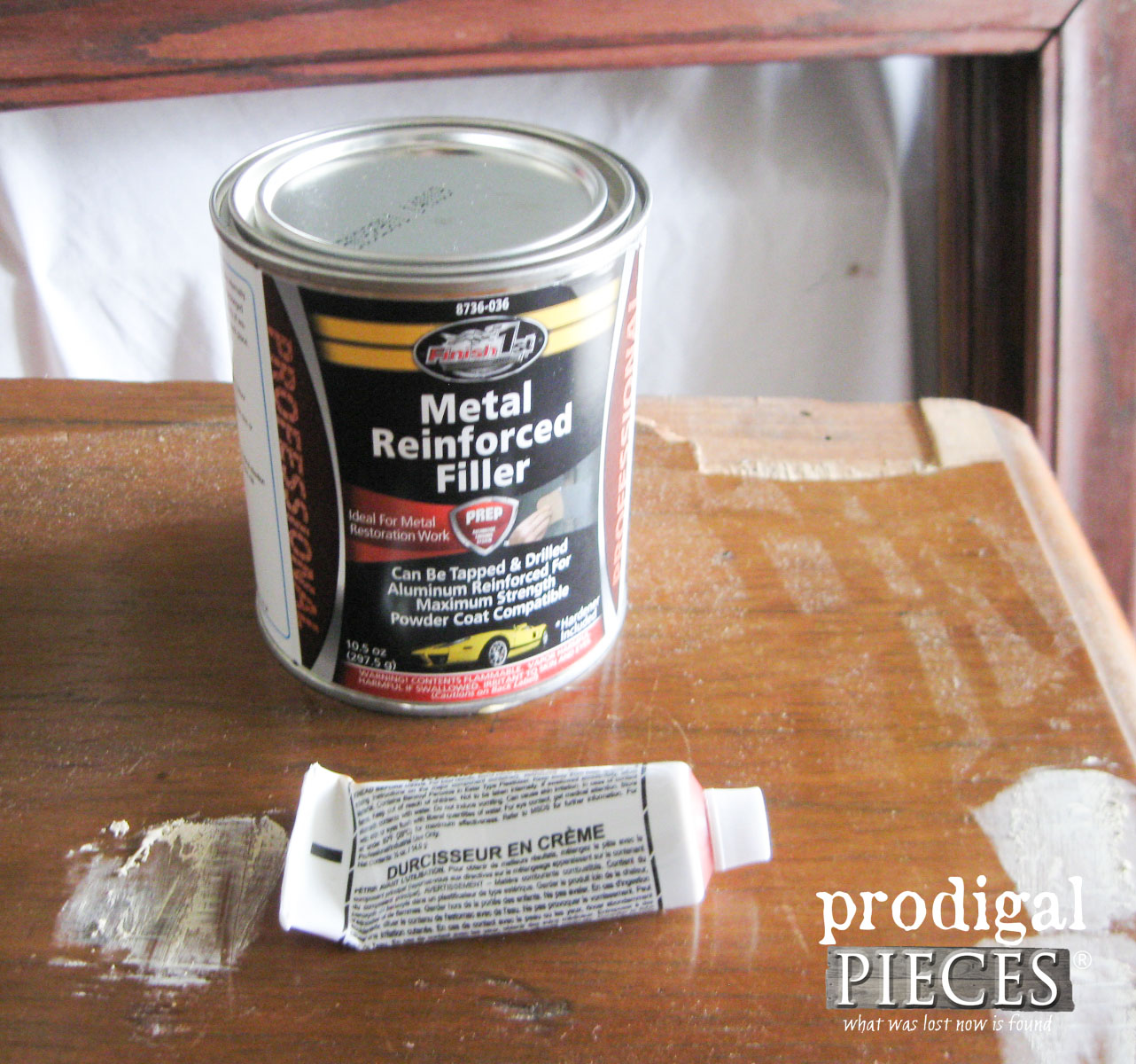 Autobody Filler to Repair Badly Damaged Furniture | Prodigal Pieces | www.prodigalpieces.com